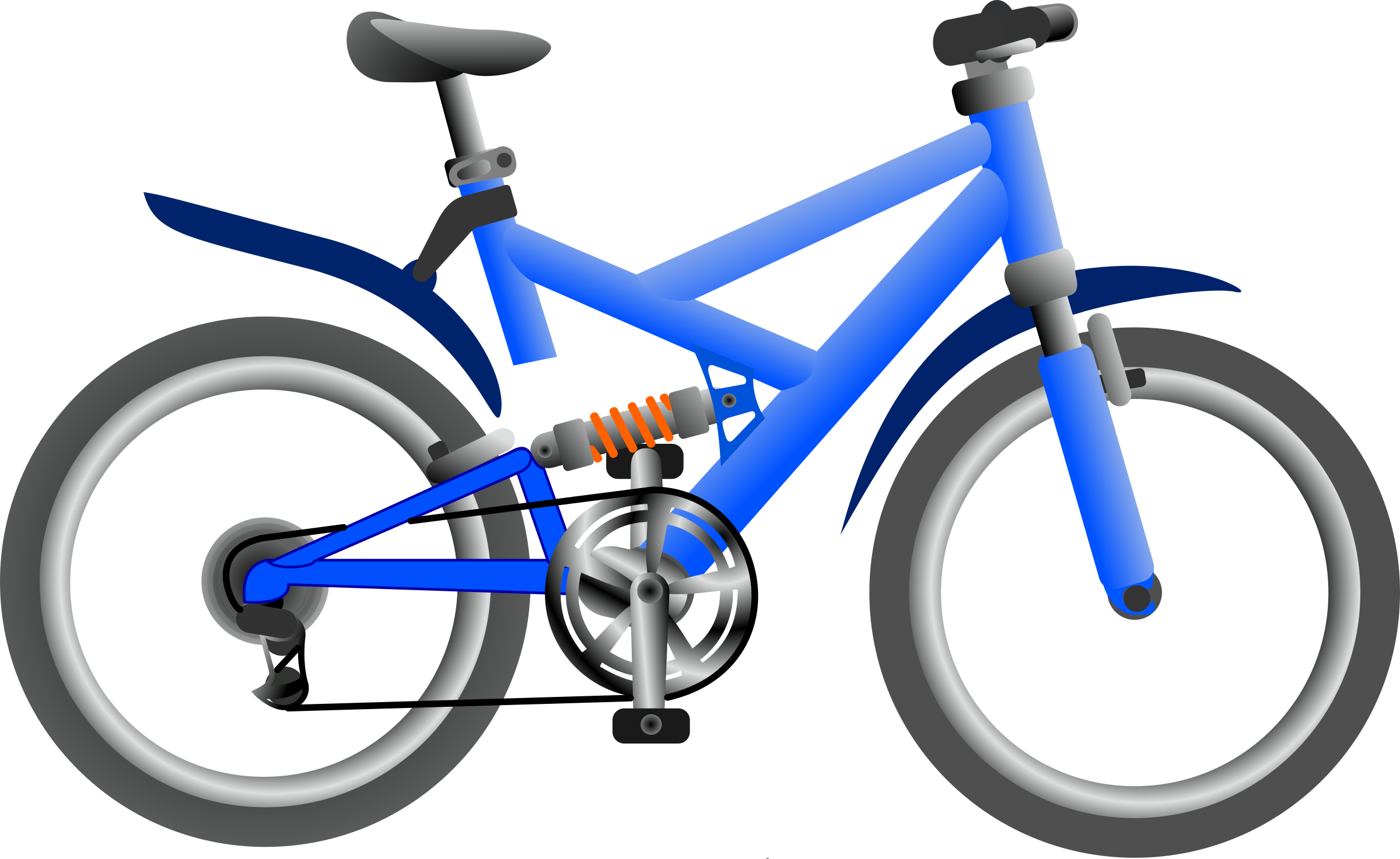 Blue bike by Anonymous