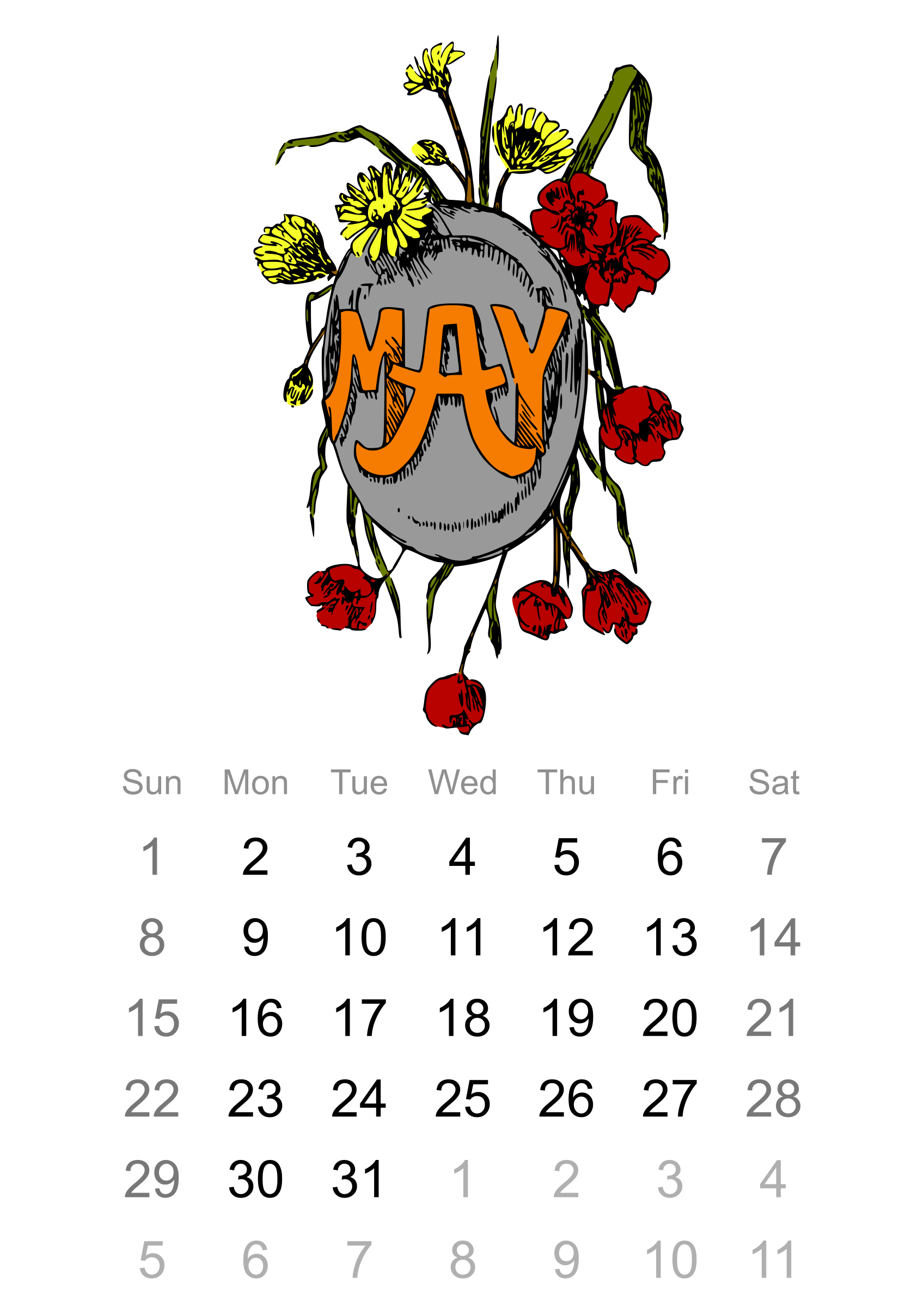 2016 May calendar by Firkin