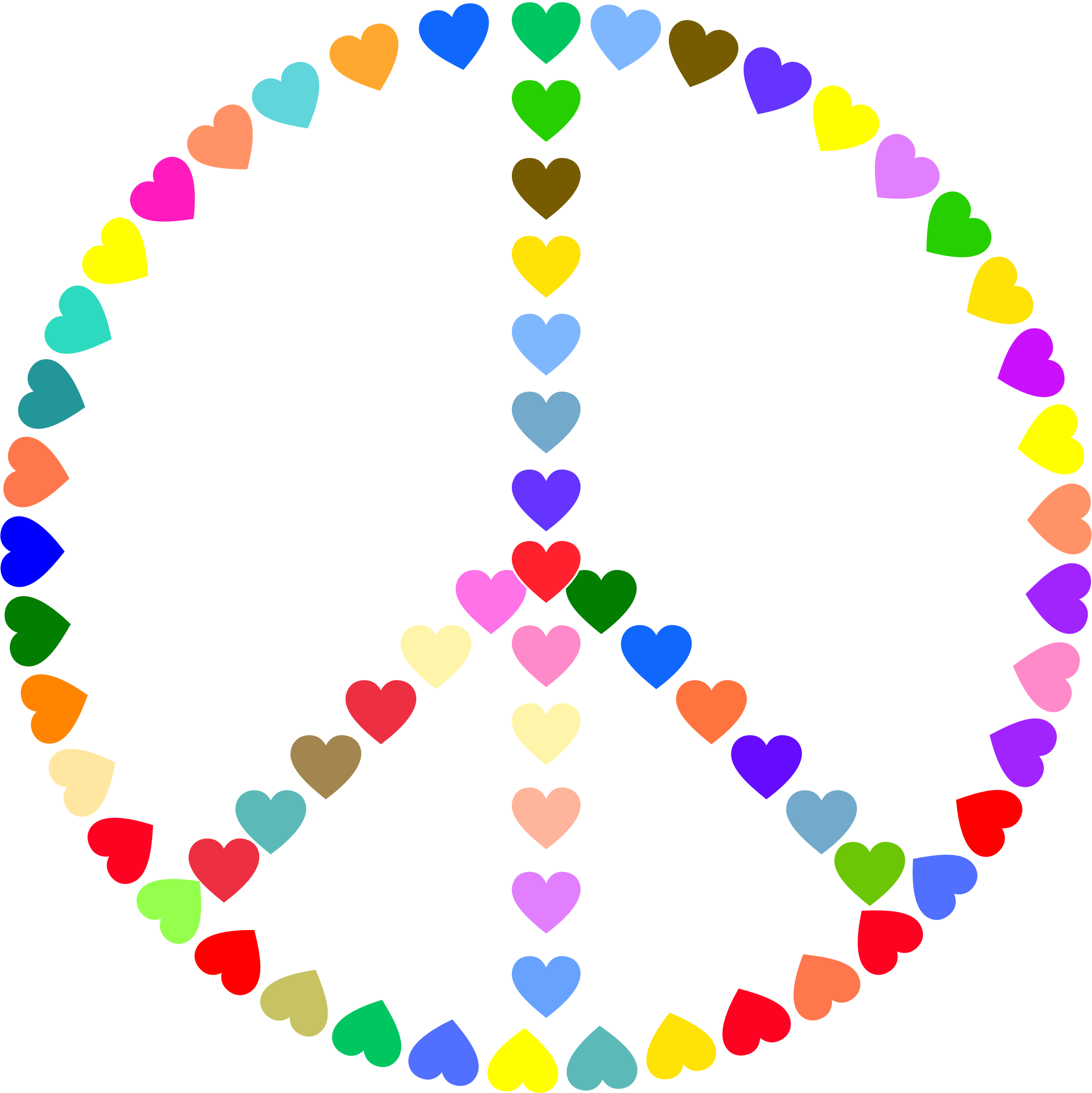 Colorful Peace Sign Love by GDJ