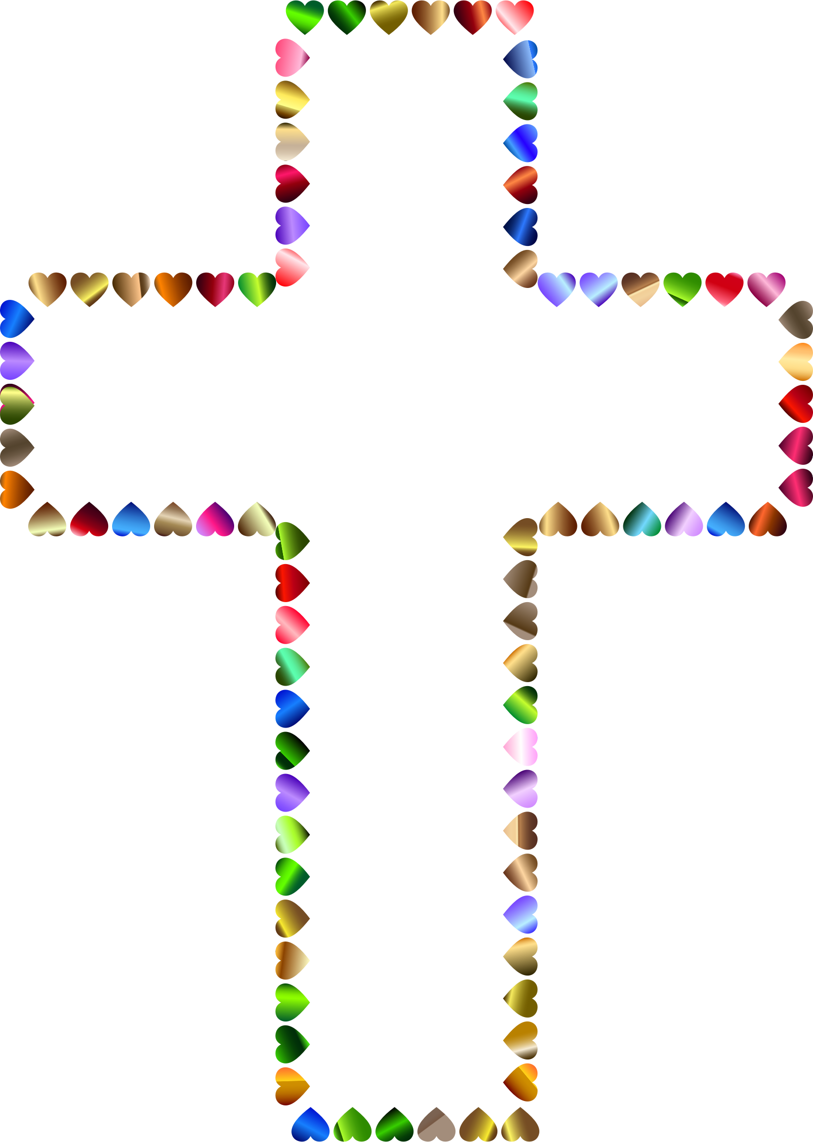 Prismatic Hearts Cross. 3 Variation 2 by GDJ