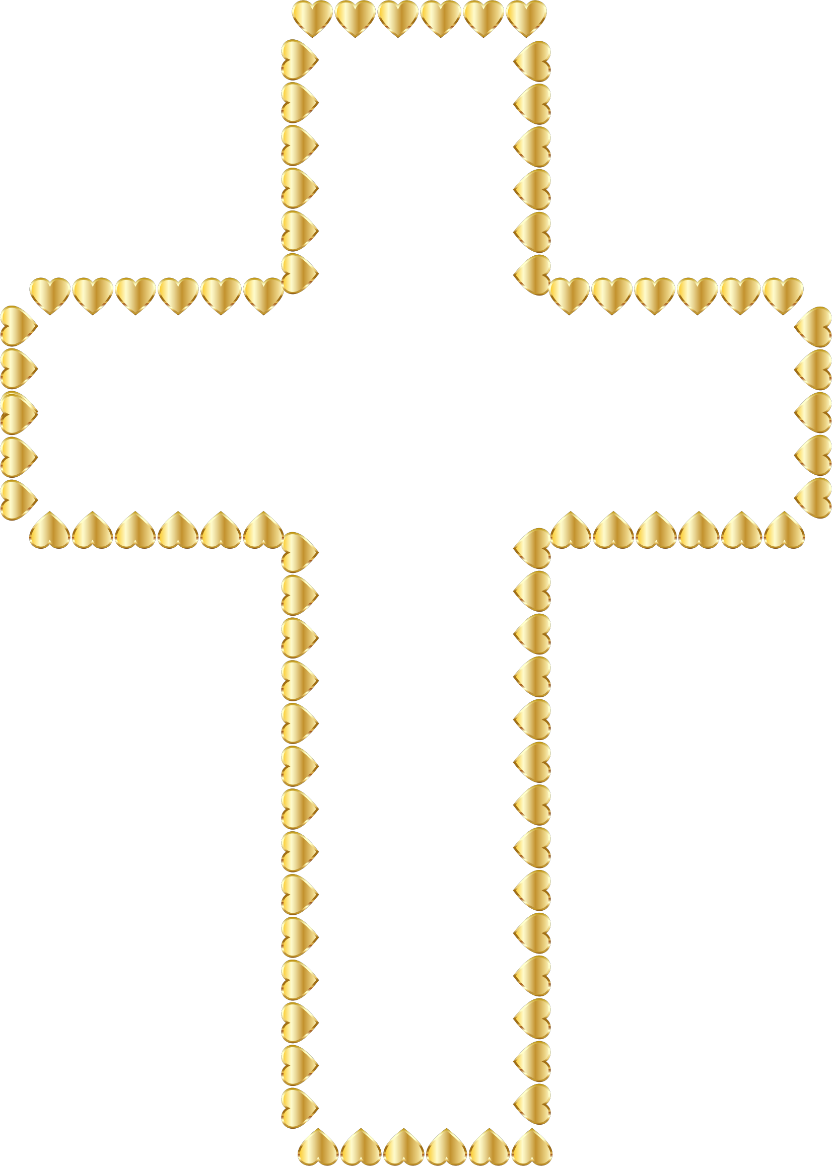 Golden Cross Hearts No Background by GDJ