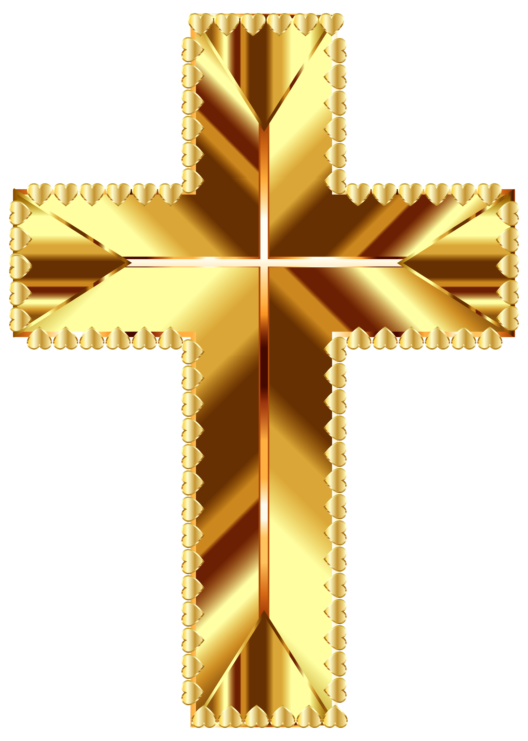 Golden Cross Love Deeper Color No Background by GDJ