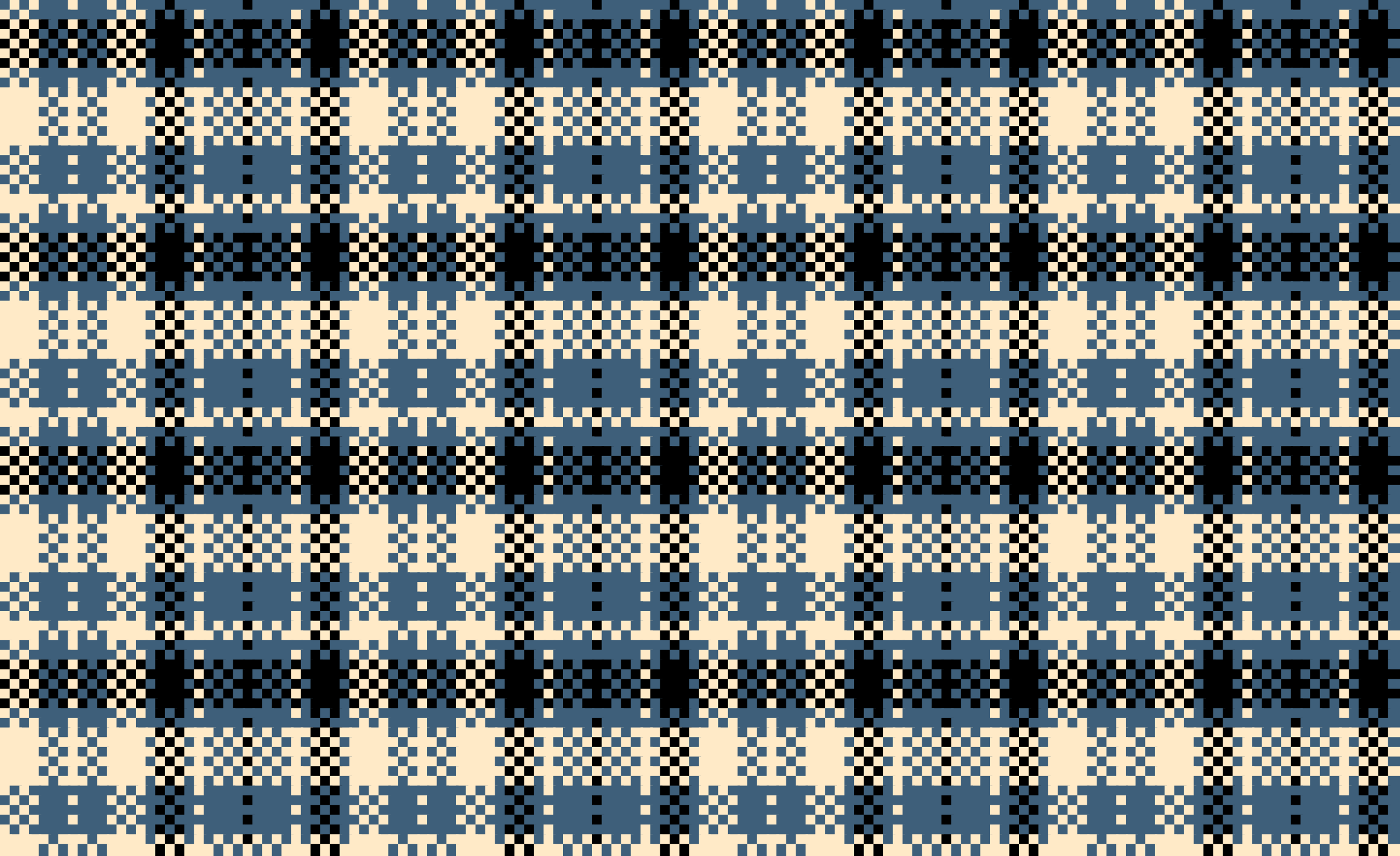 Woven Plaid Blue by gubrww2