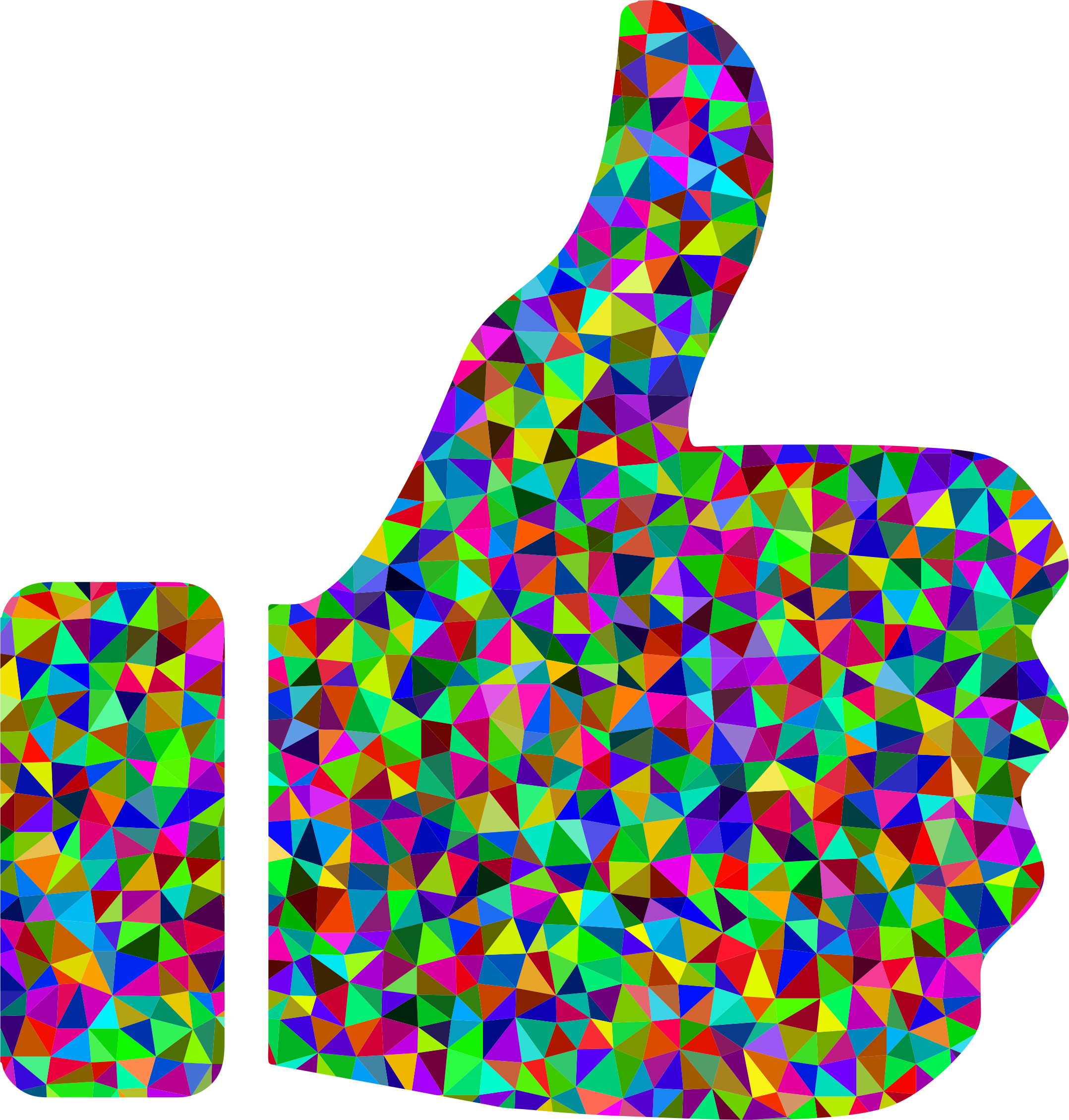 Prismatic Low Poly Thumbs Up by GDJ
