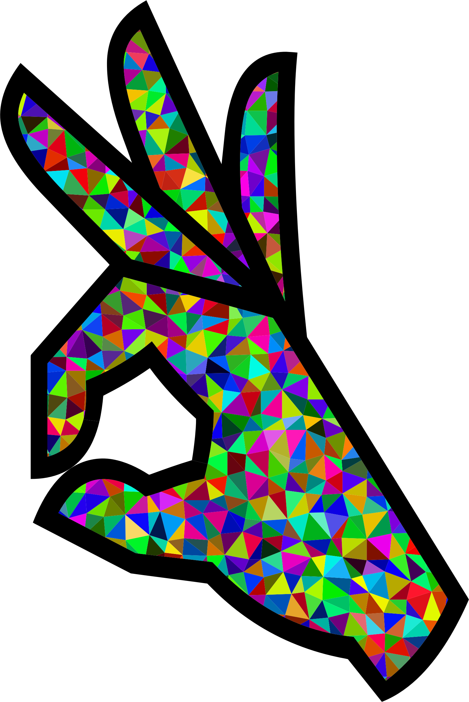 Clipart Prismatic Low Poly Ok Perfect Hand Sign Emoji