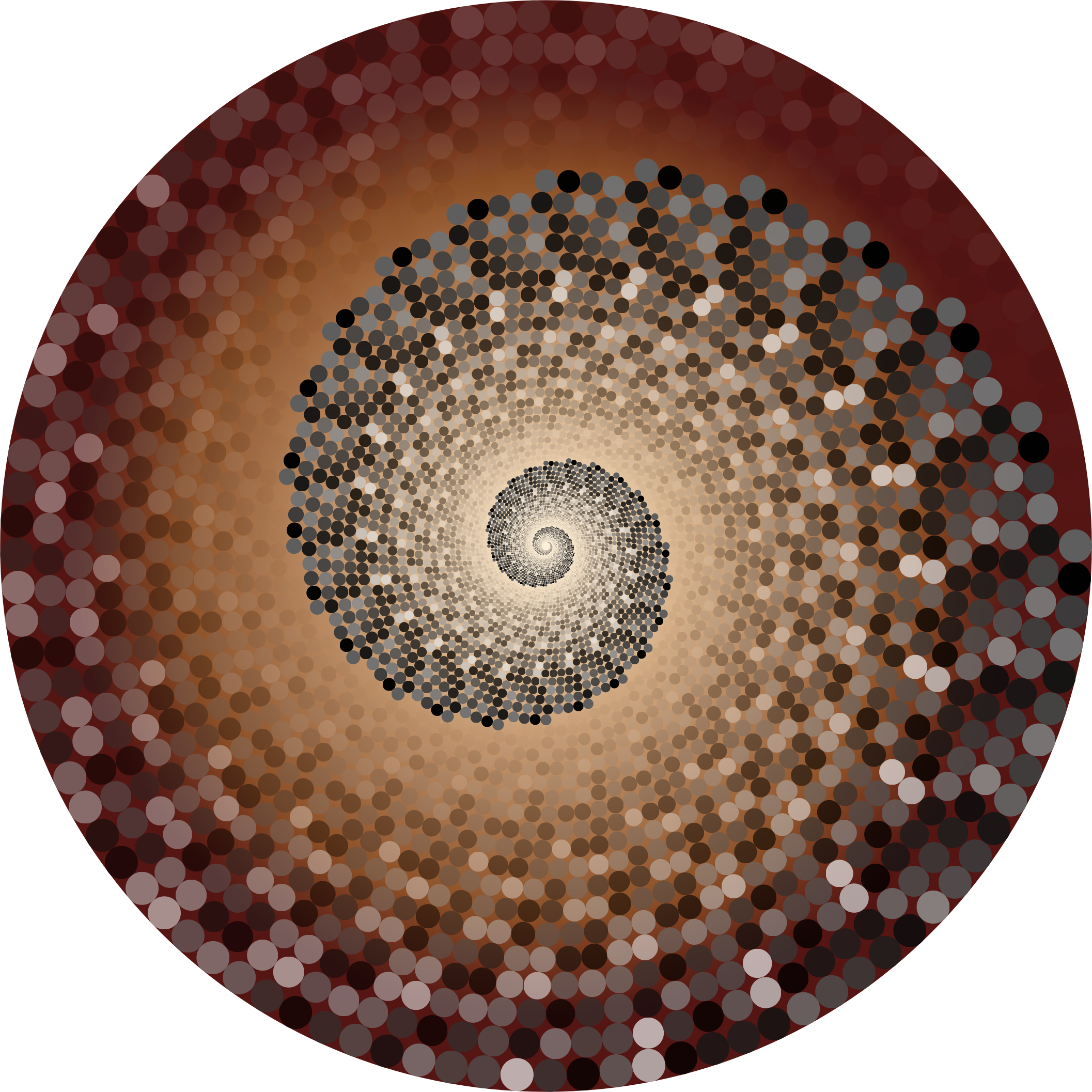 Grayscale Swirling Circles Vortex Variation 5 by GDJ