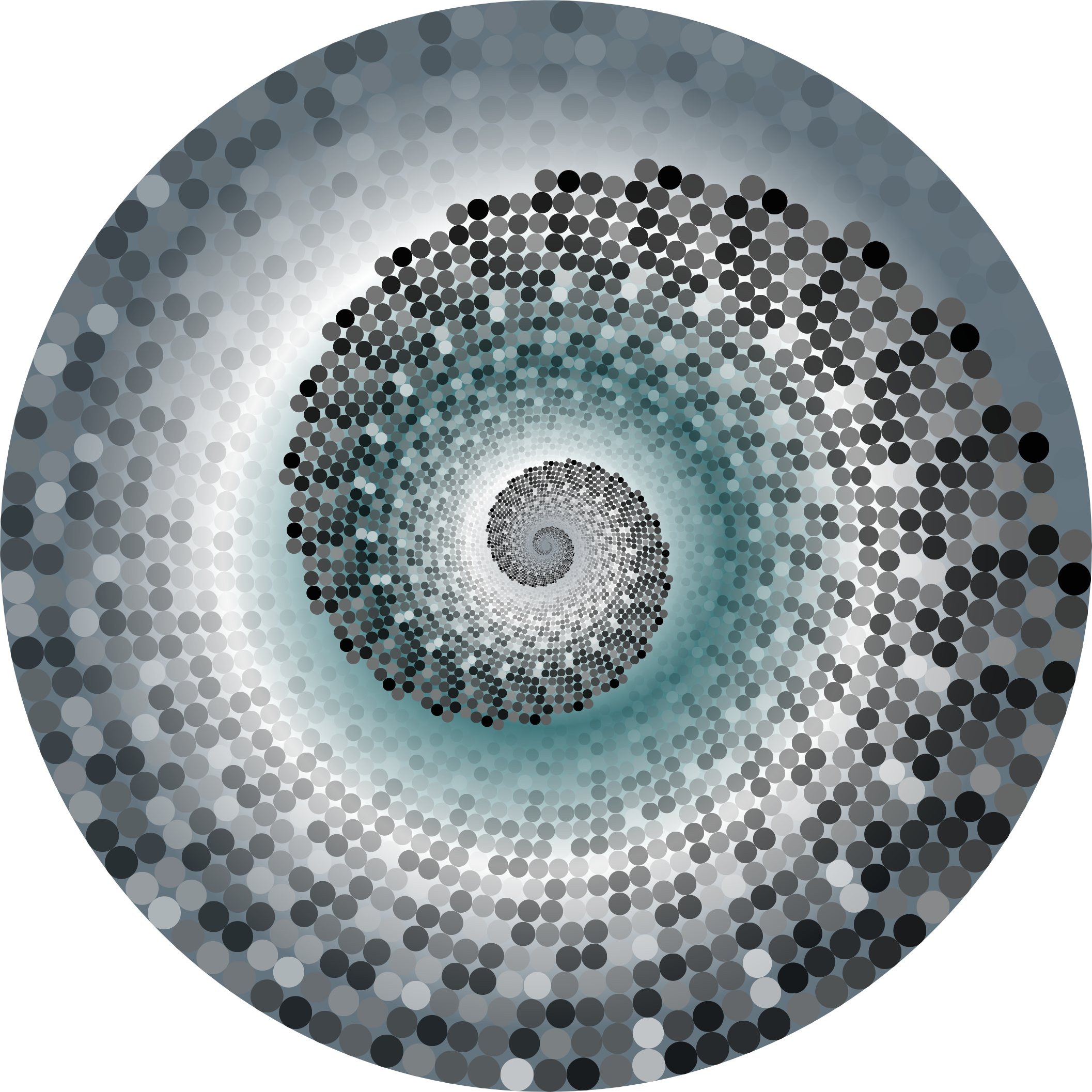Grayscale Swirling Circles Vortex Variation 7 by GDJ