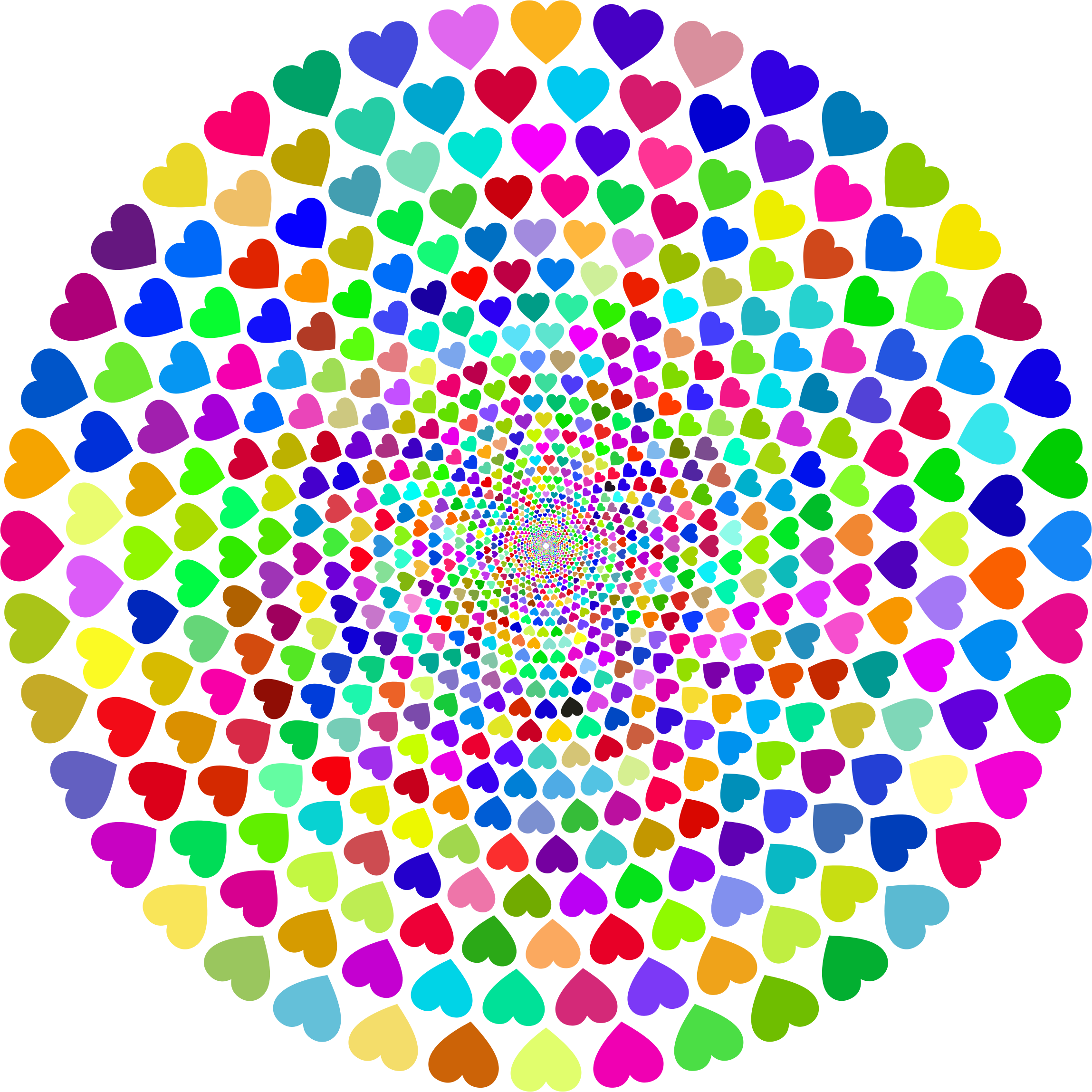Colorful Hearts Vortex by GDJ