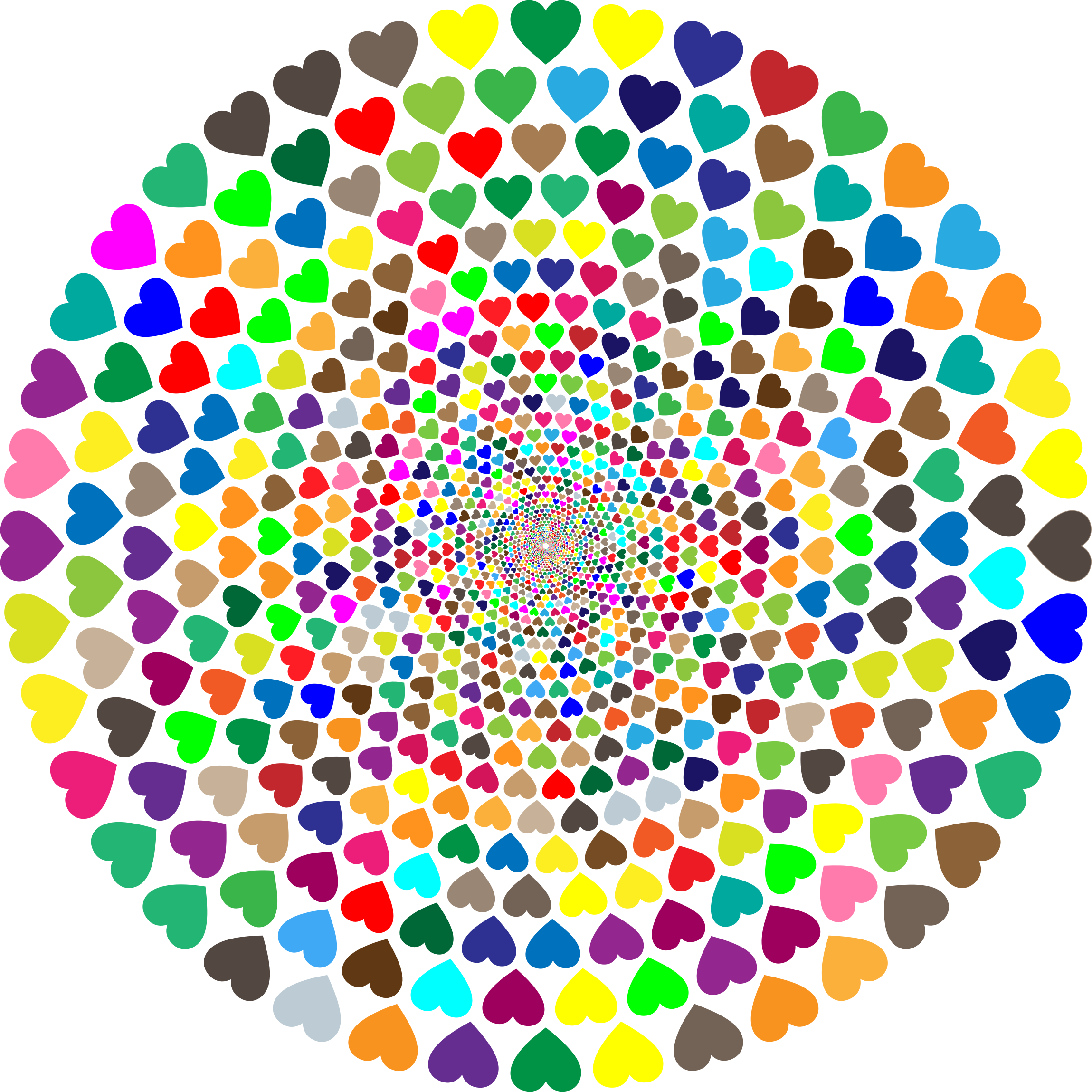 Colorful Hearts Vortex 2 by GDJ