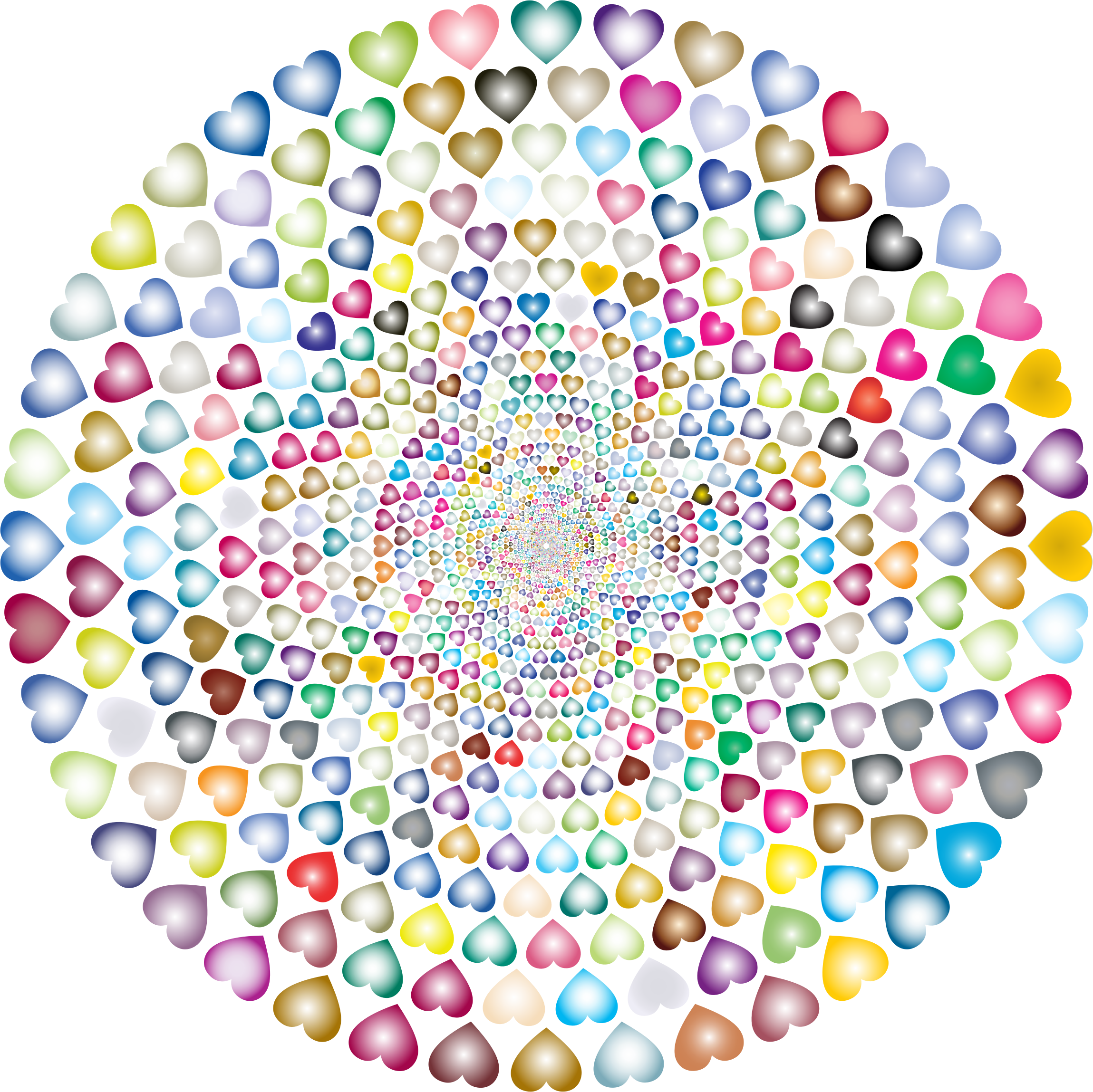 Colorful Hearts Vortex 5 by GDJ