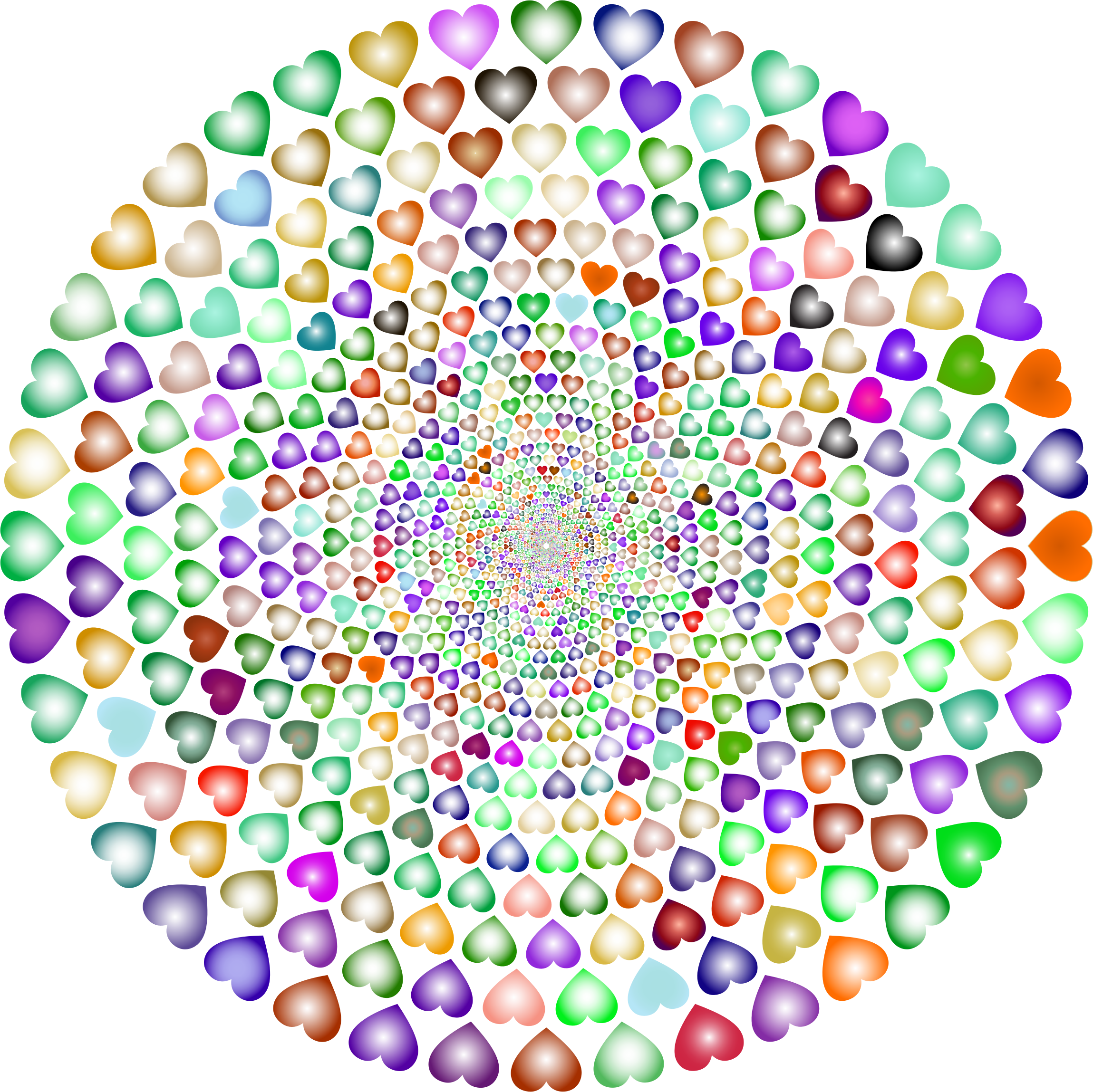 Colorful Hearts Vortex 6 by GDJ