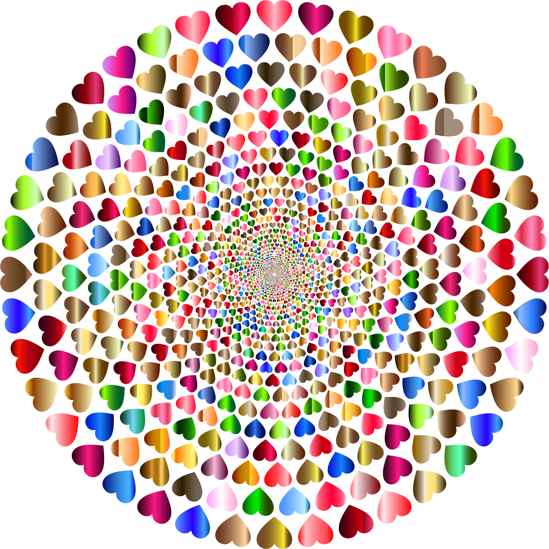 Colorful Hearts Vortex 12 Variation 2 by GDJ