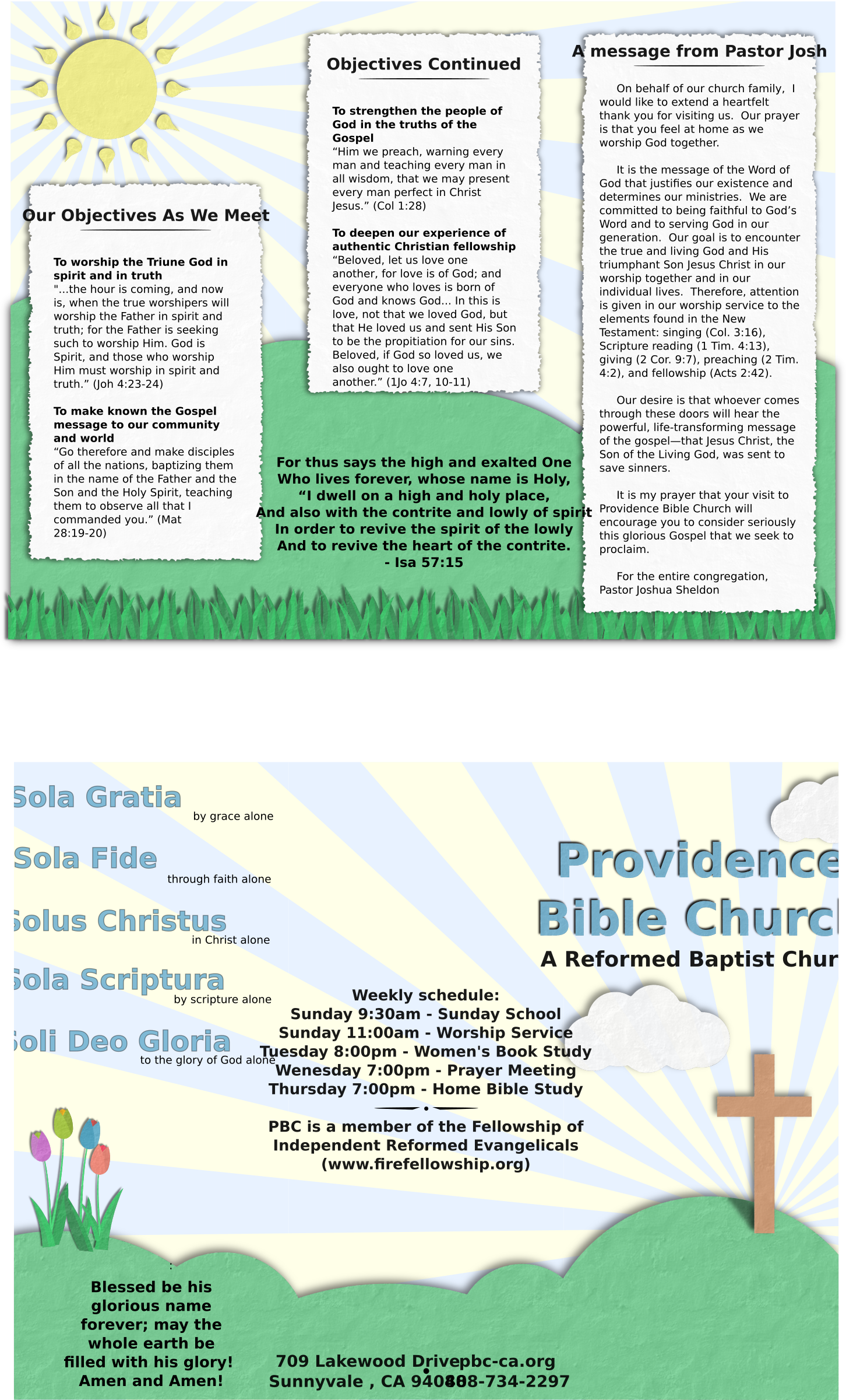 Church welcome brochure by dear_theophilus