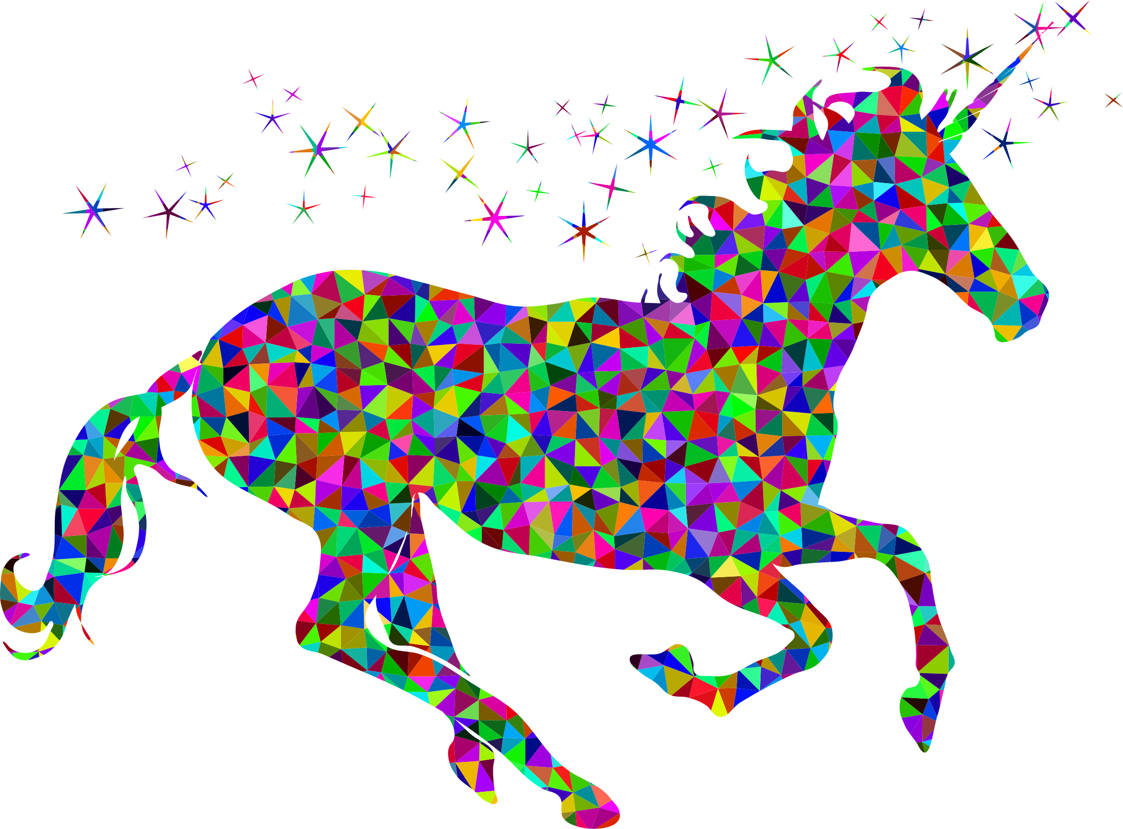 Prismatic Low Poly Magical Unicorn by GDJ