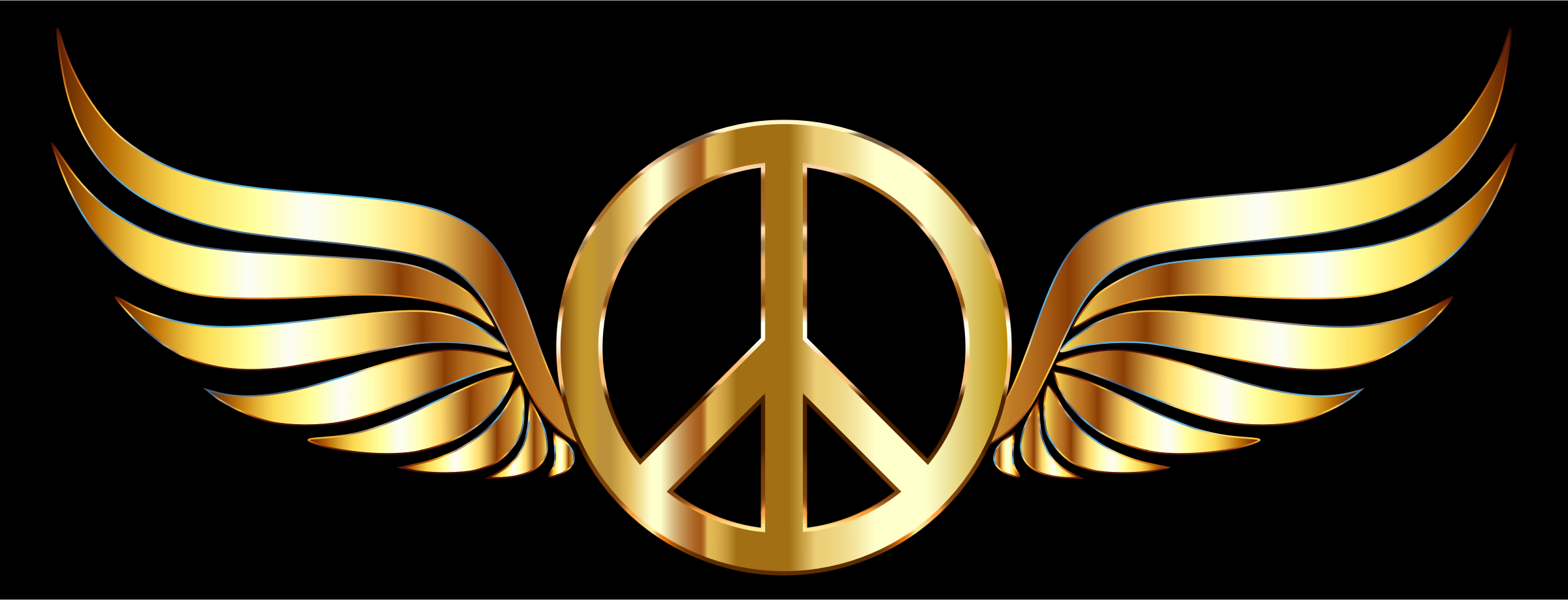 Gold Peace Sign Wings by GDJ