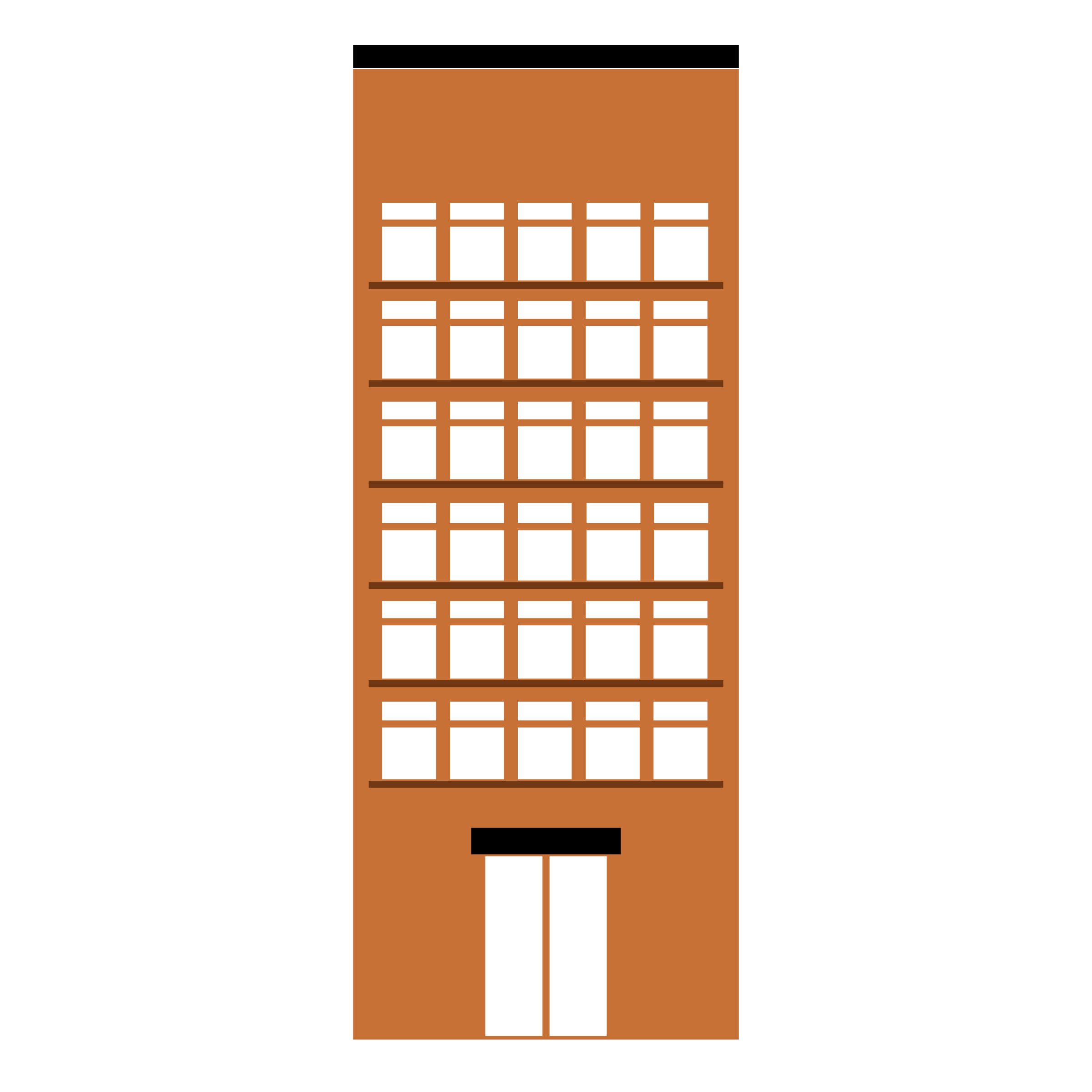 BUILDING-Medium Tall- 3-color-flat-with-empty-space-to-write-design by oldifluff