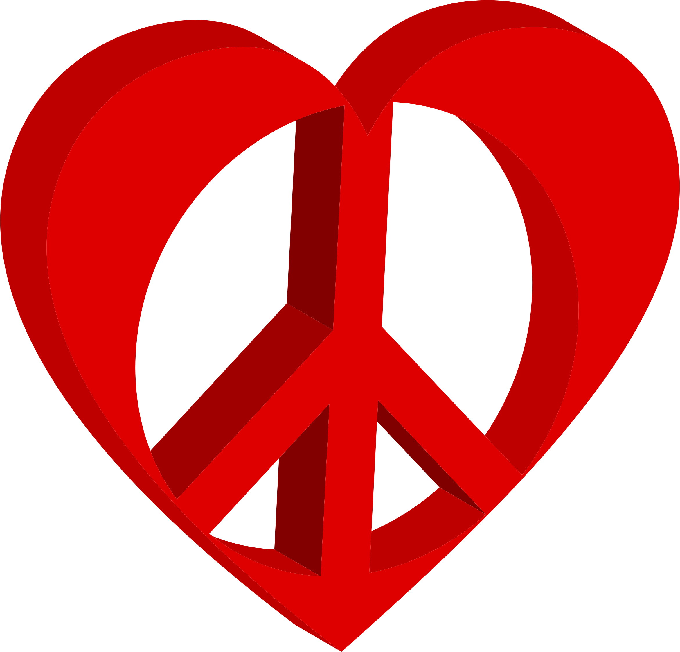 Clipart - 3D Peace Heart Mark II