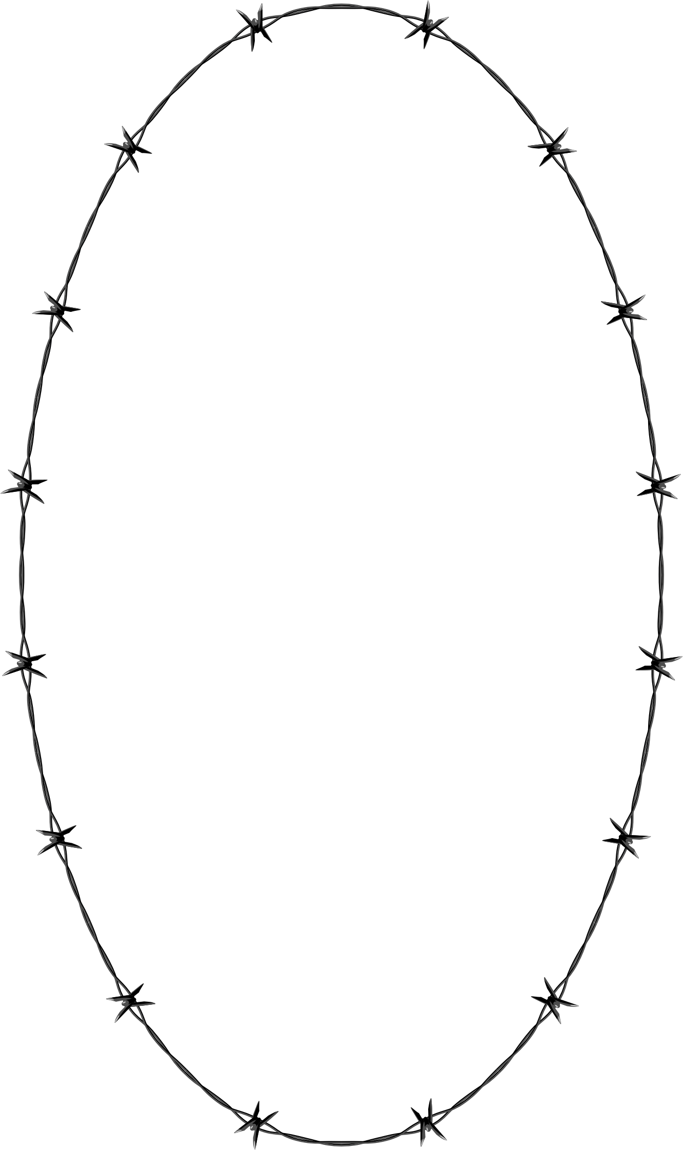 Barbed Wire Ellipse Frame Border by GDJ