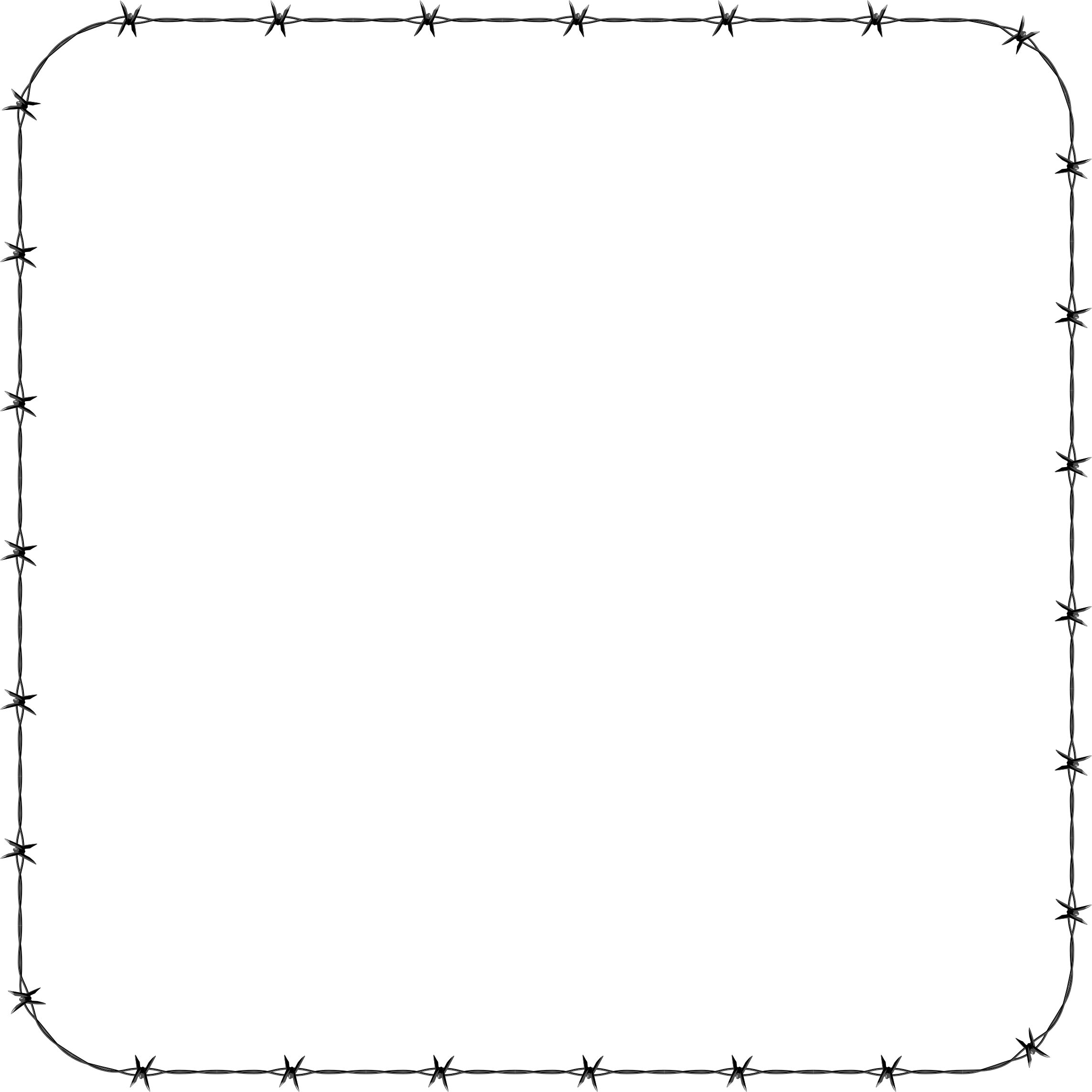 Barbed Wire Rounded Square Frame Border by GDJ