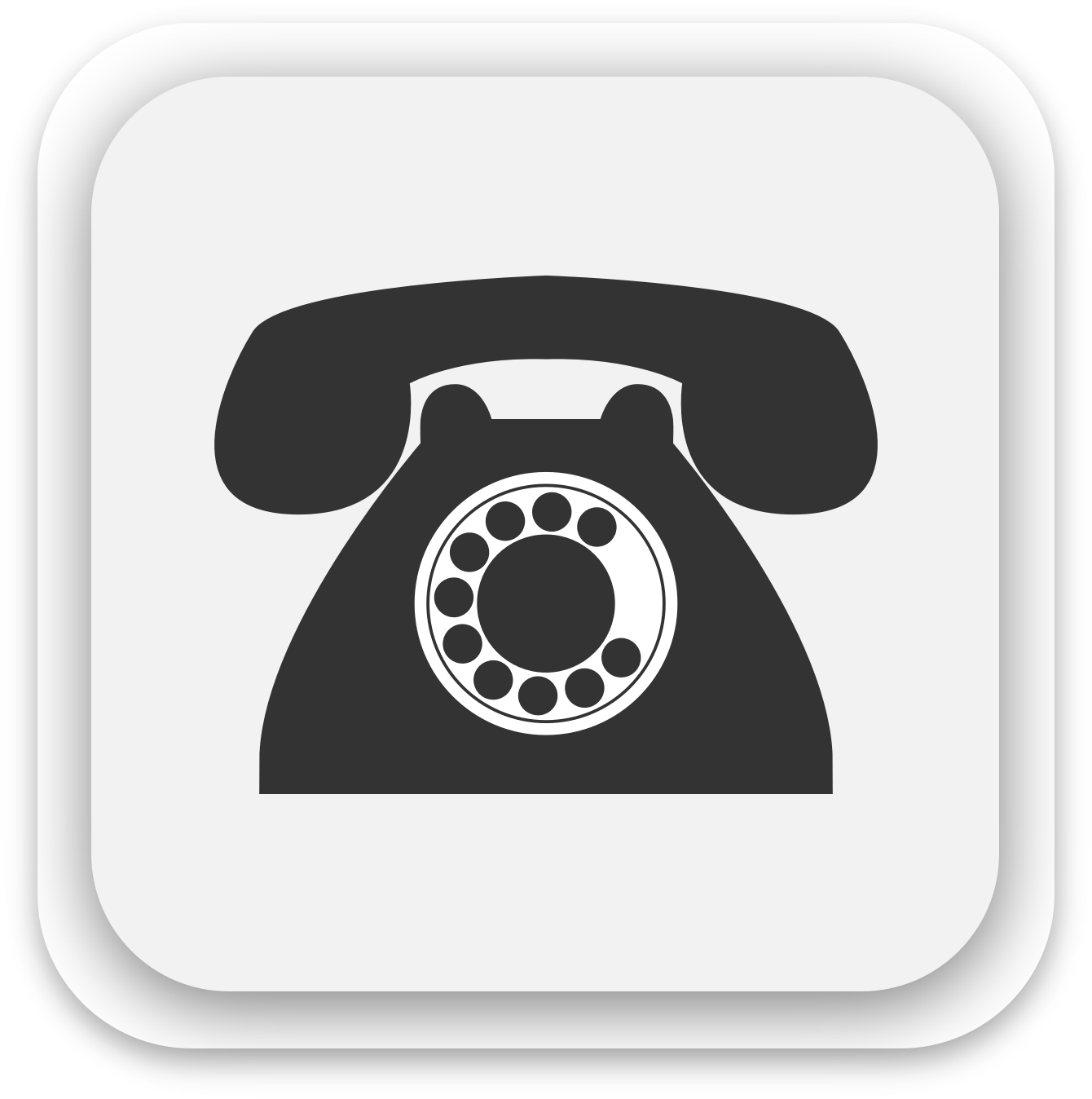 Telephone icon by GoodFreeArt