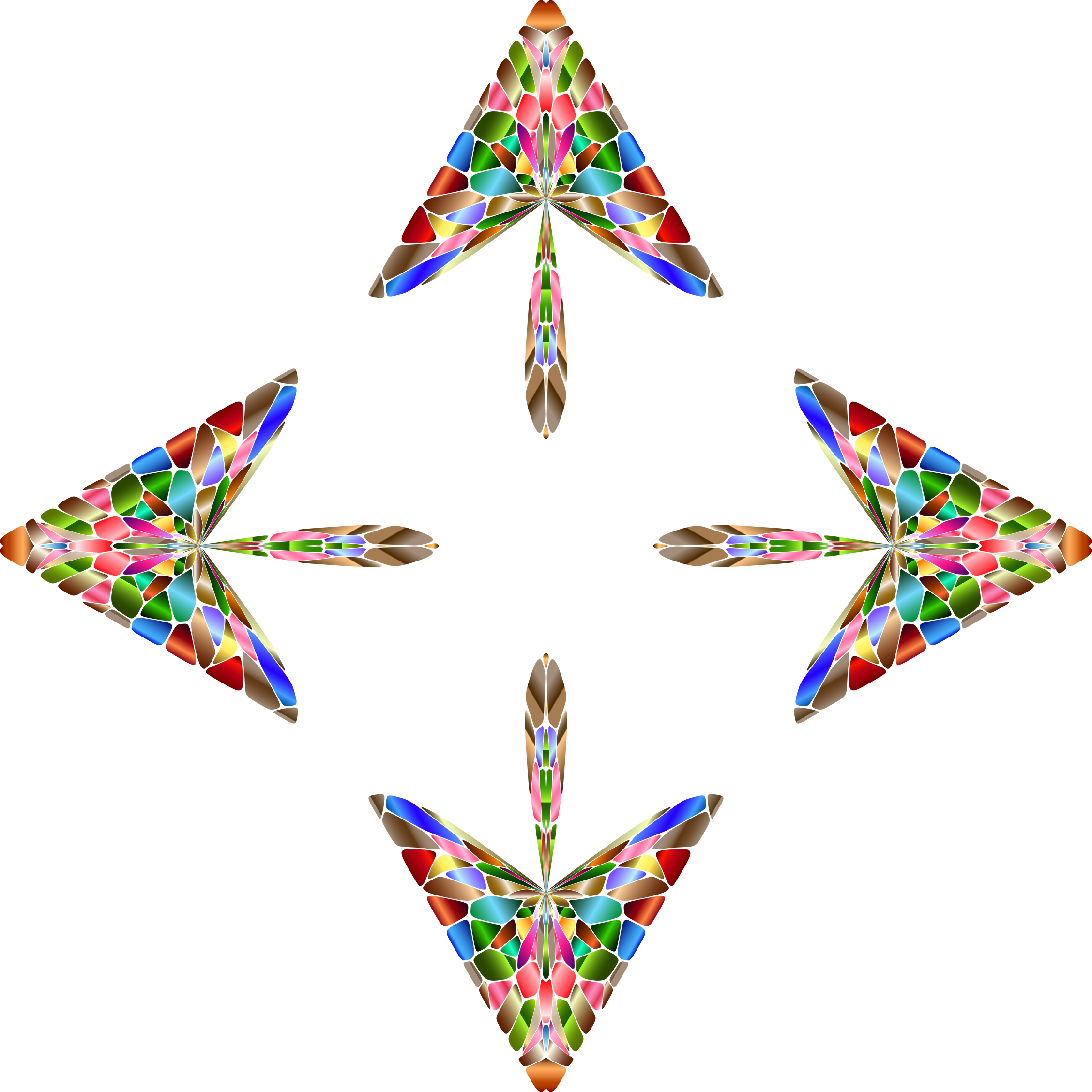 Chromatic Geometric Arrows 3 by GDJ