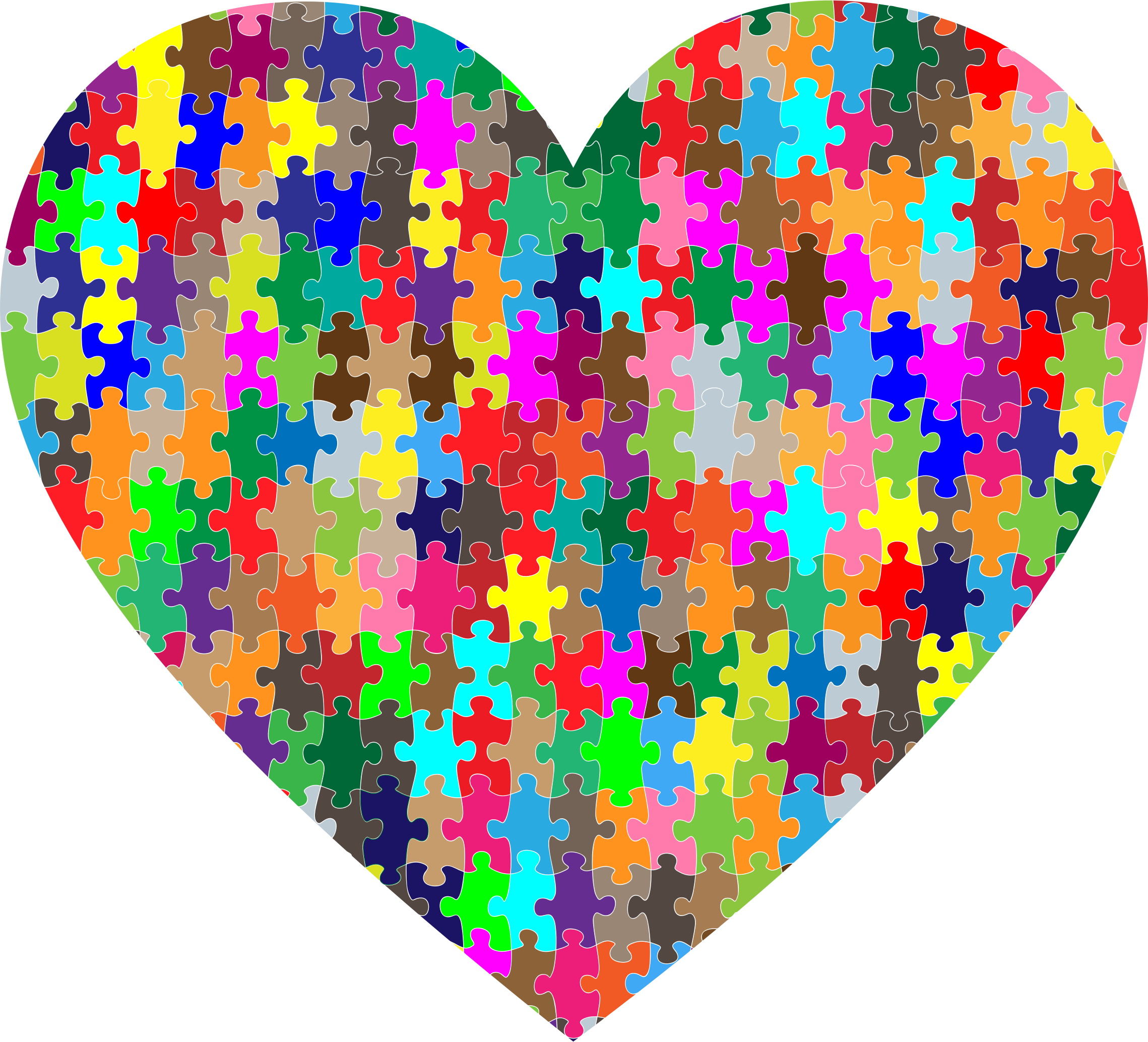 Colorful Puzzle Heart by GDJ