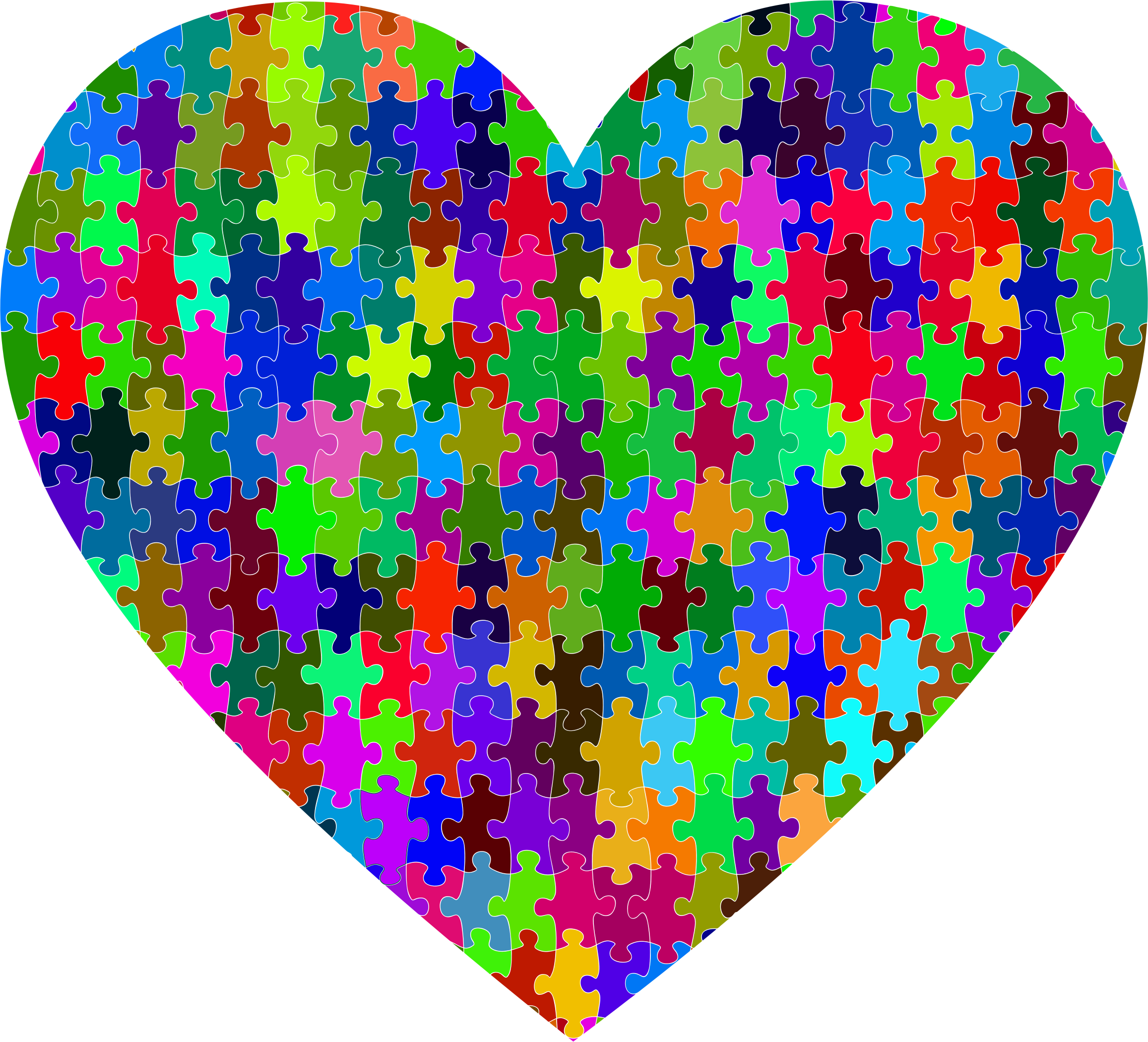 Colorful Puzzle Heart 2 by GDJ