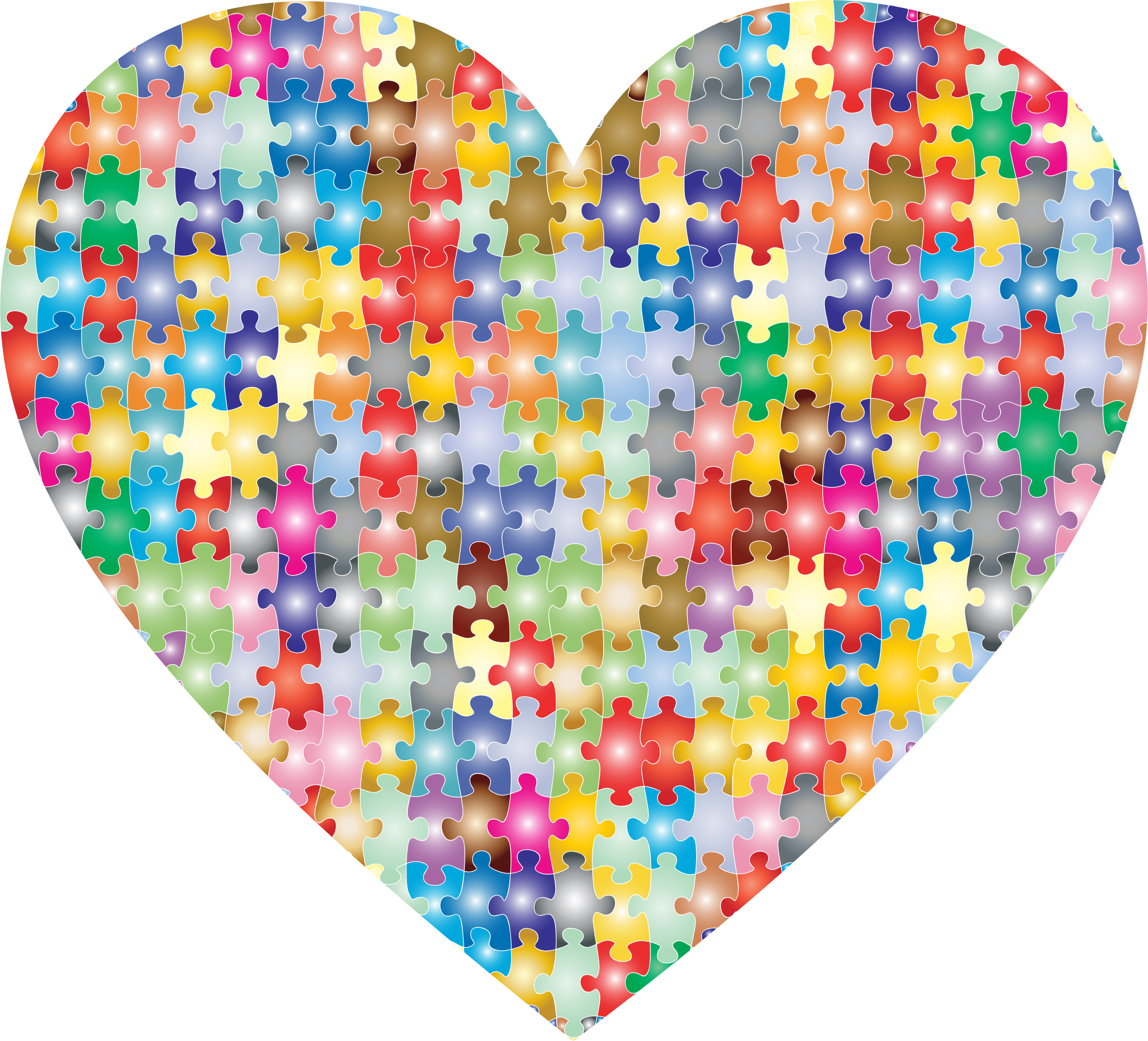 Colorful Puzzle Heart 3 by GDJ