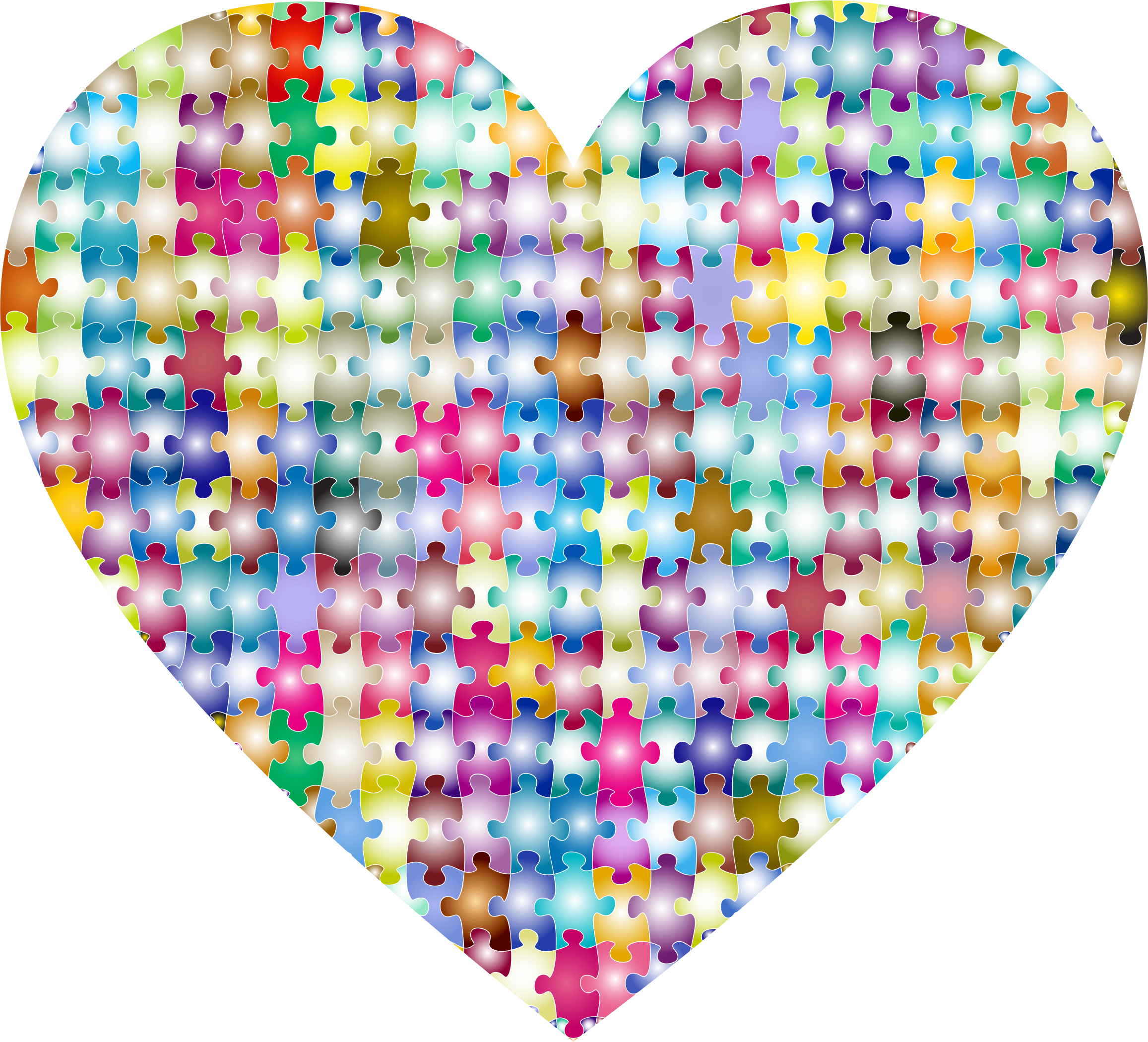Colorful Puzzle Heart 4 by GDJ