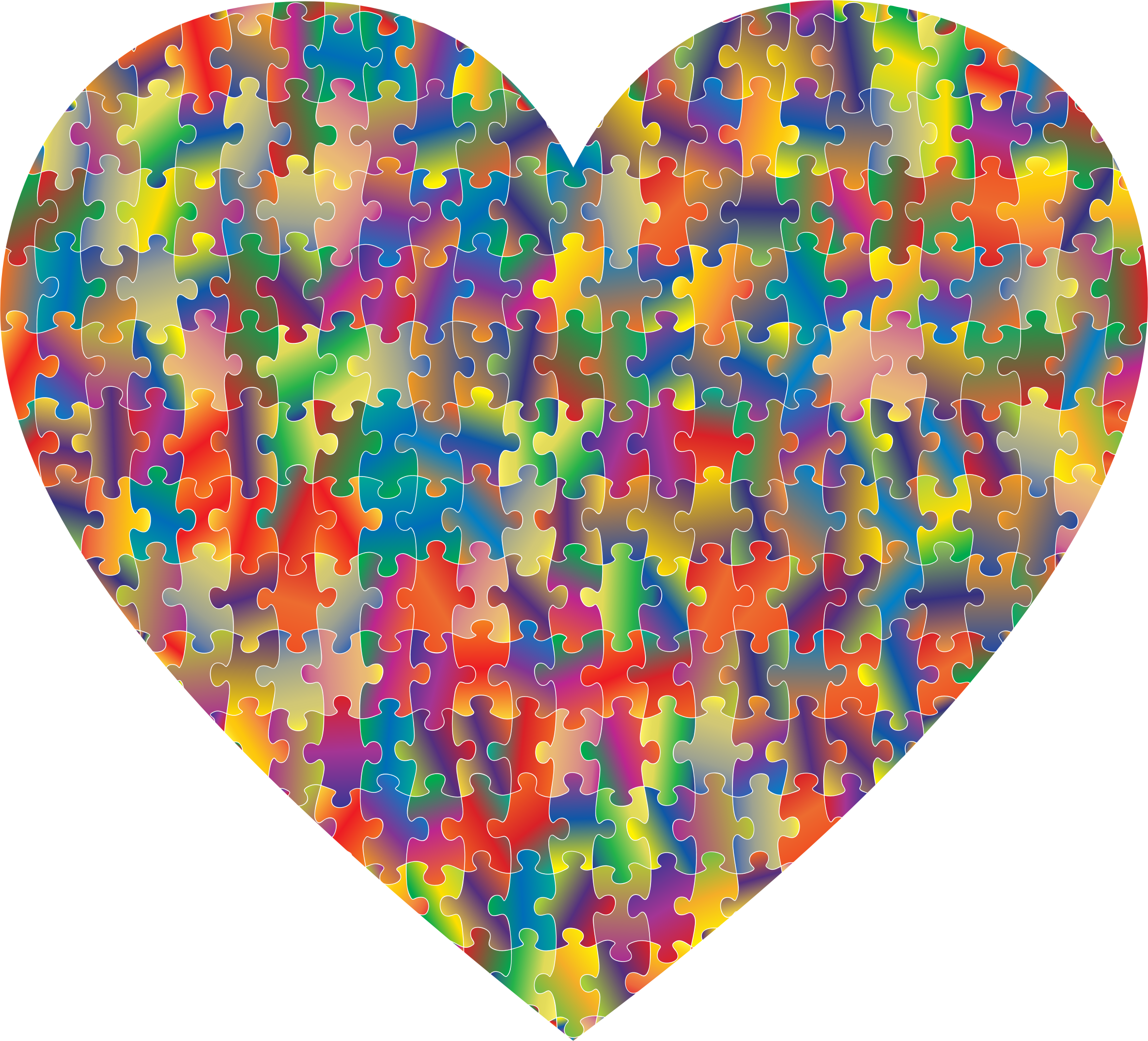 Colorful Puzzle Heart 5 by GDJ