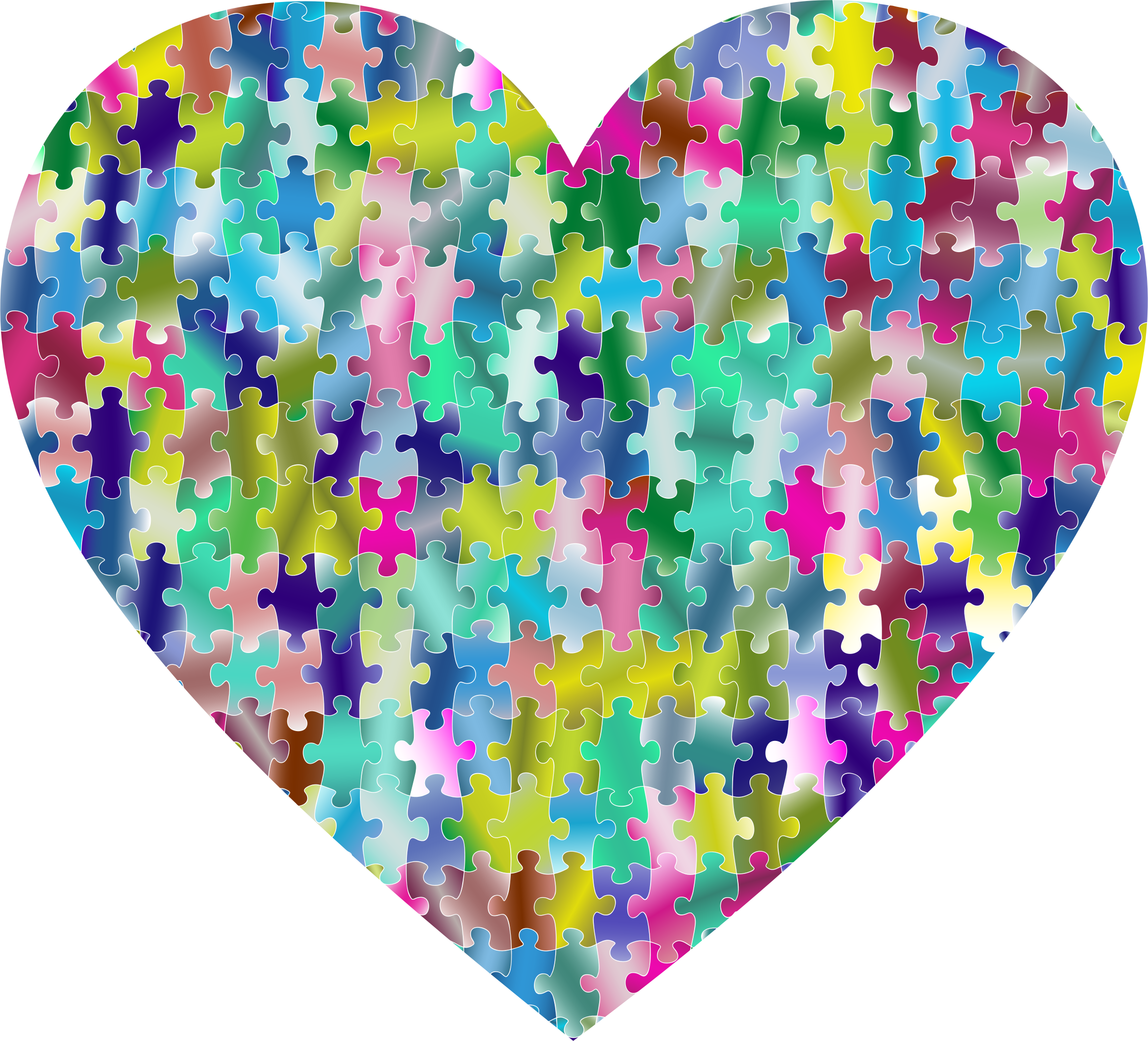 Colorful Puzzle Heart 6 by GDJ
