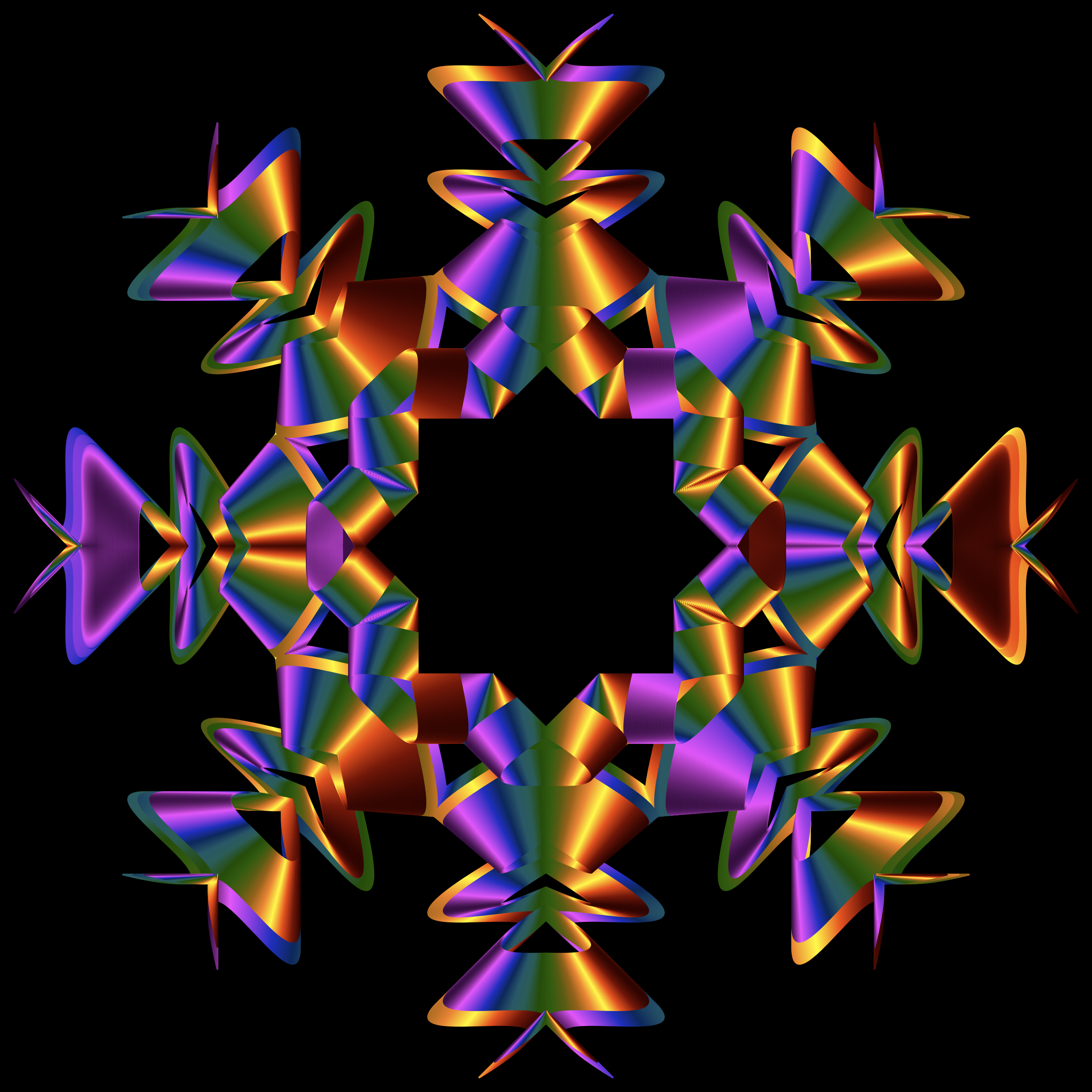 Prismatic Star Line Art 4 by GDJ