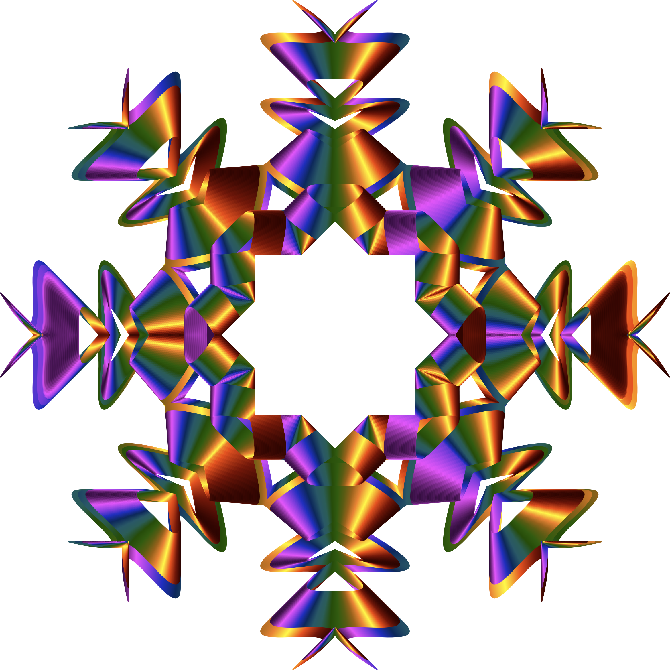 Prismatic Star Line Art 4 No Background by GDJ