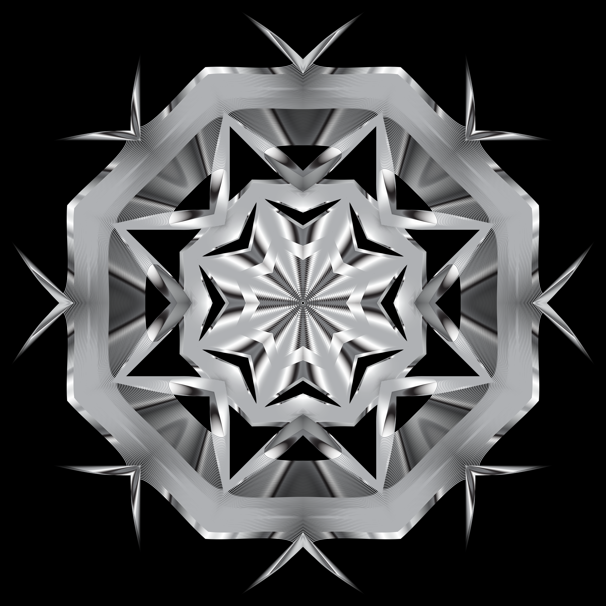 Prismatic Star Line Art 5 Variation 2 by GDJ