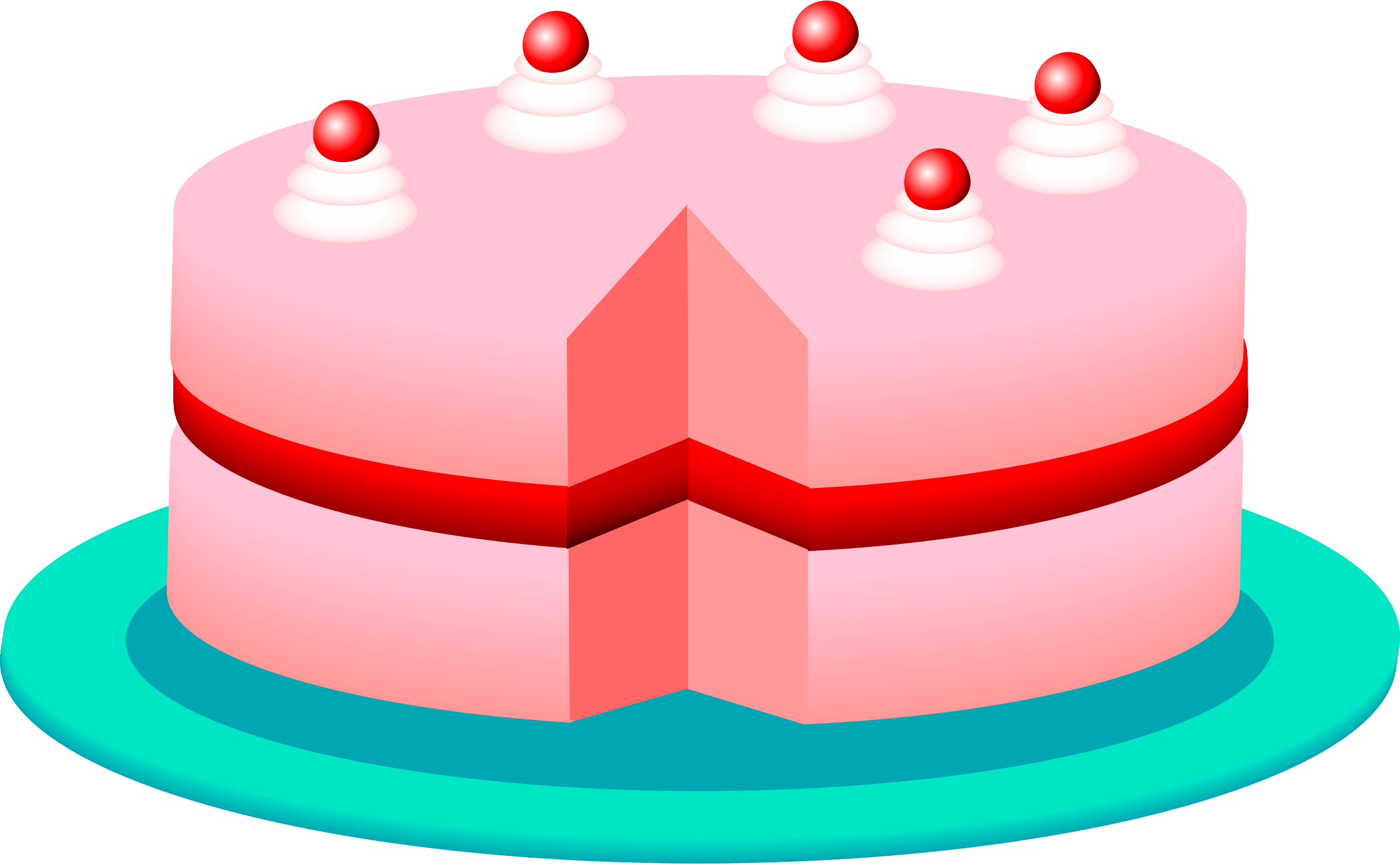 Pink cake by Anonymous
