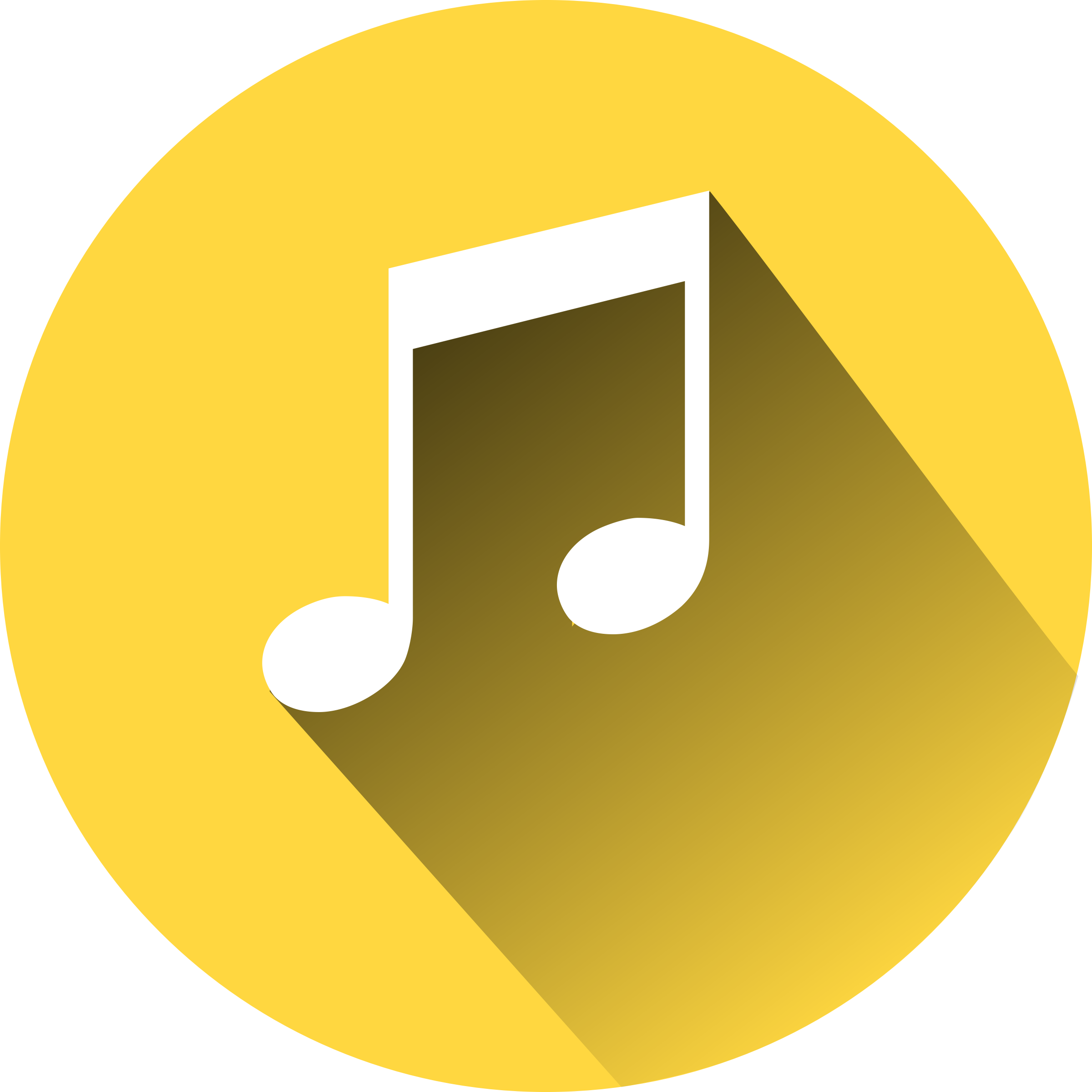 Music Note on yellow cyrcle by Benjo2000