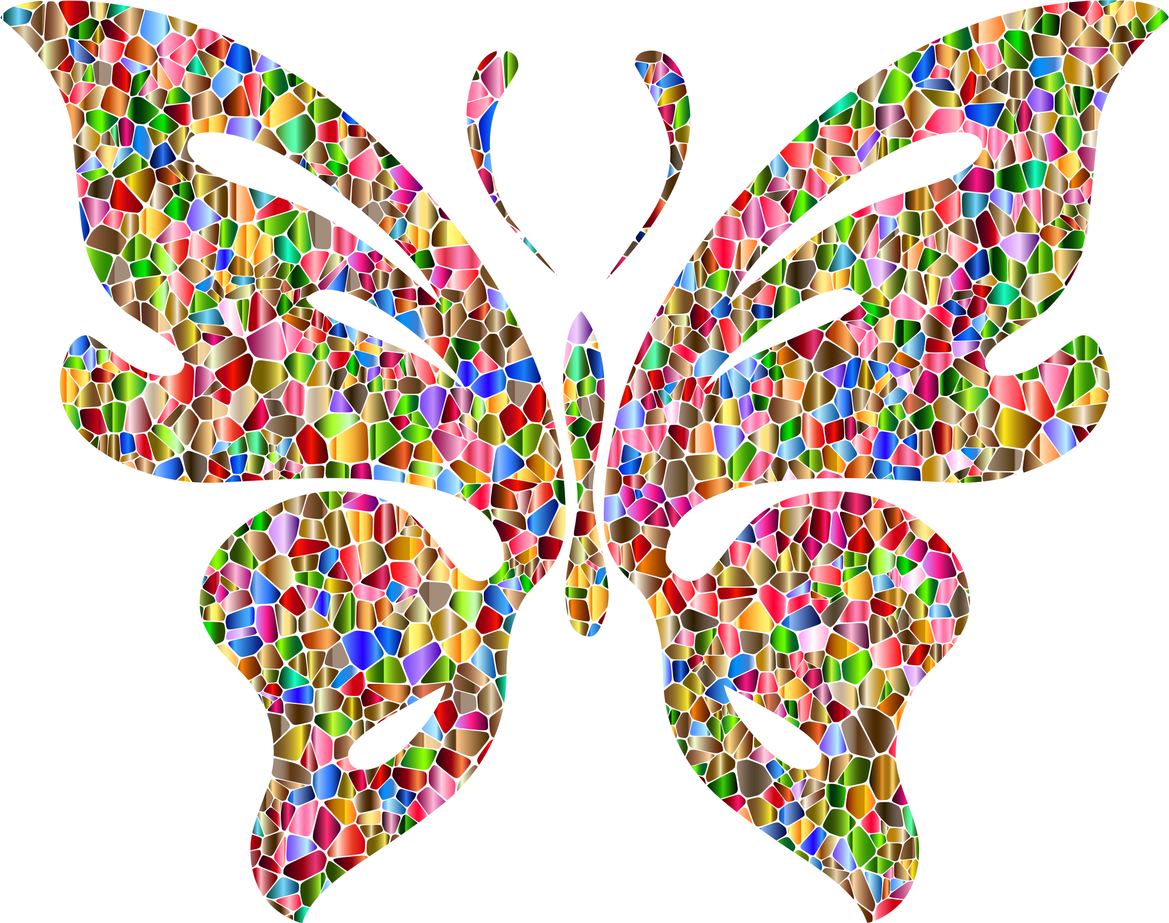 Clipart - Iridescent Chromatic Butterfly