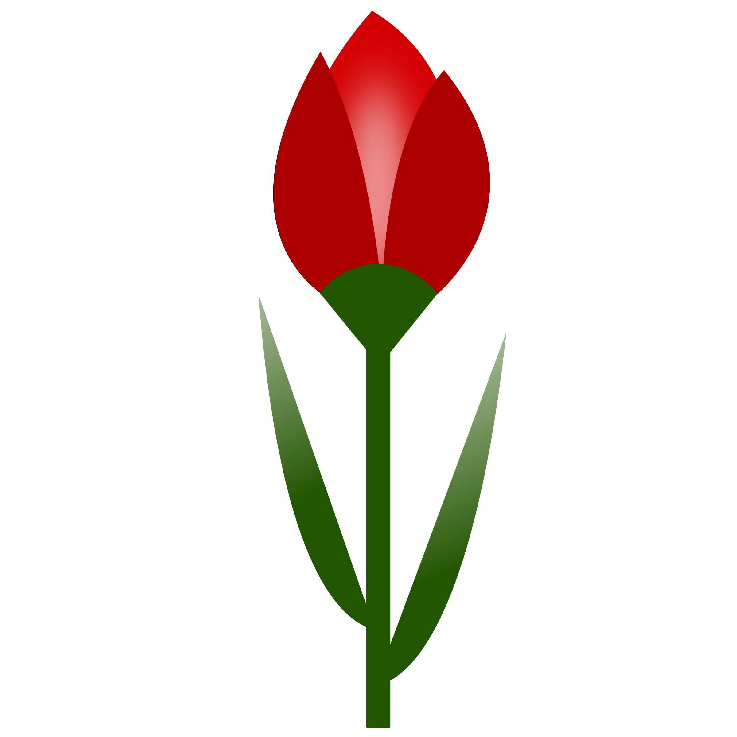 TULIP Simple Red Flower- 3-color- with slight glow by oldifluff