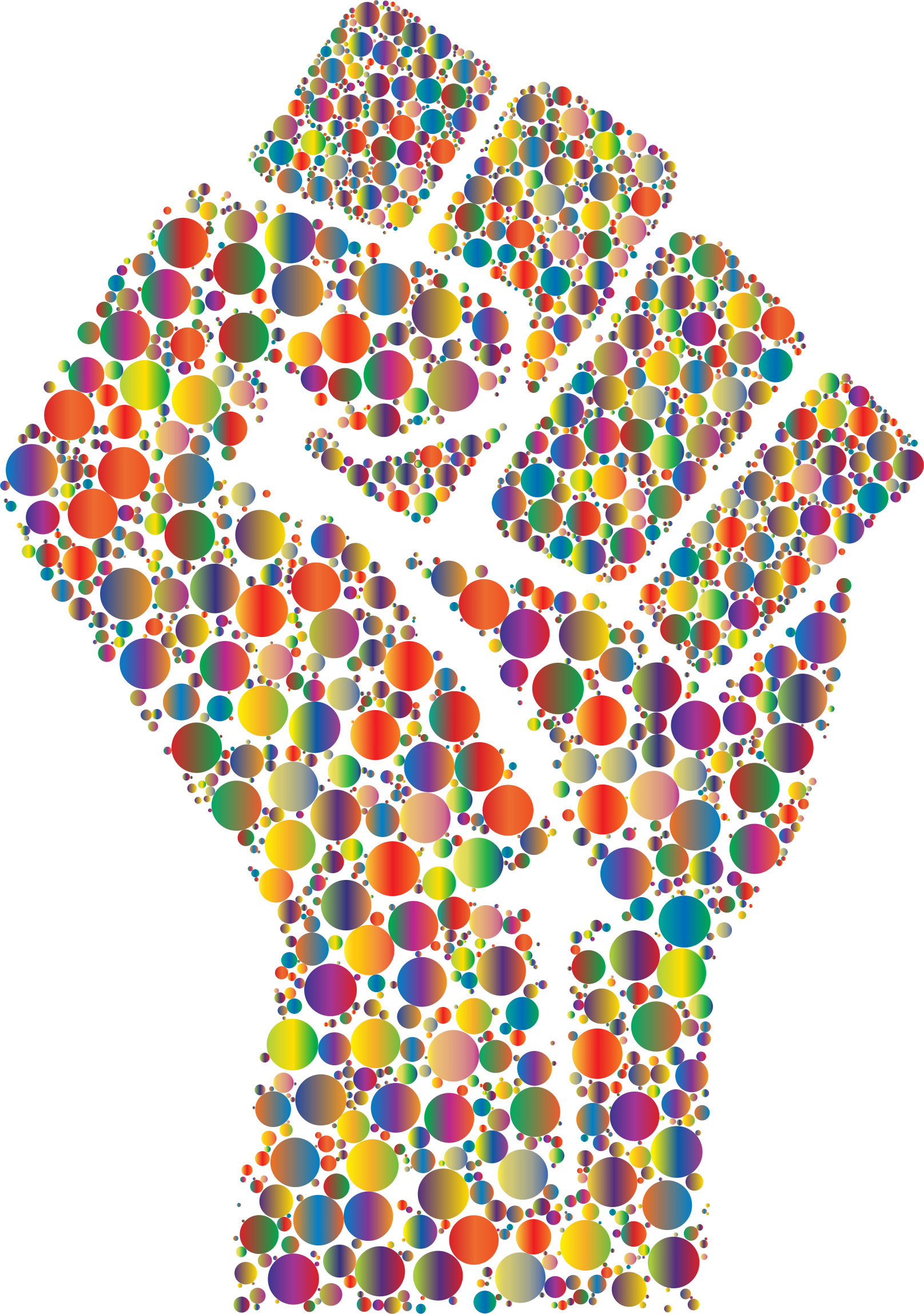 Colorful Fist Circles 6 by GDJ
