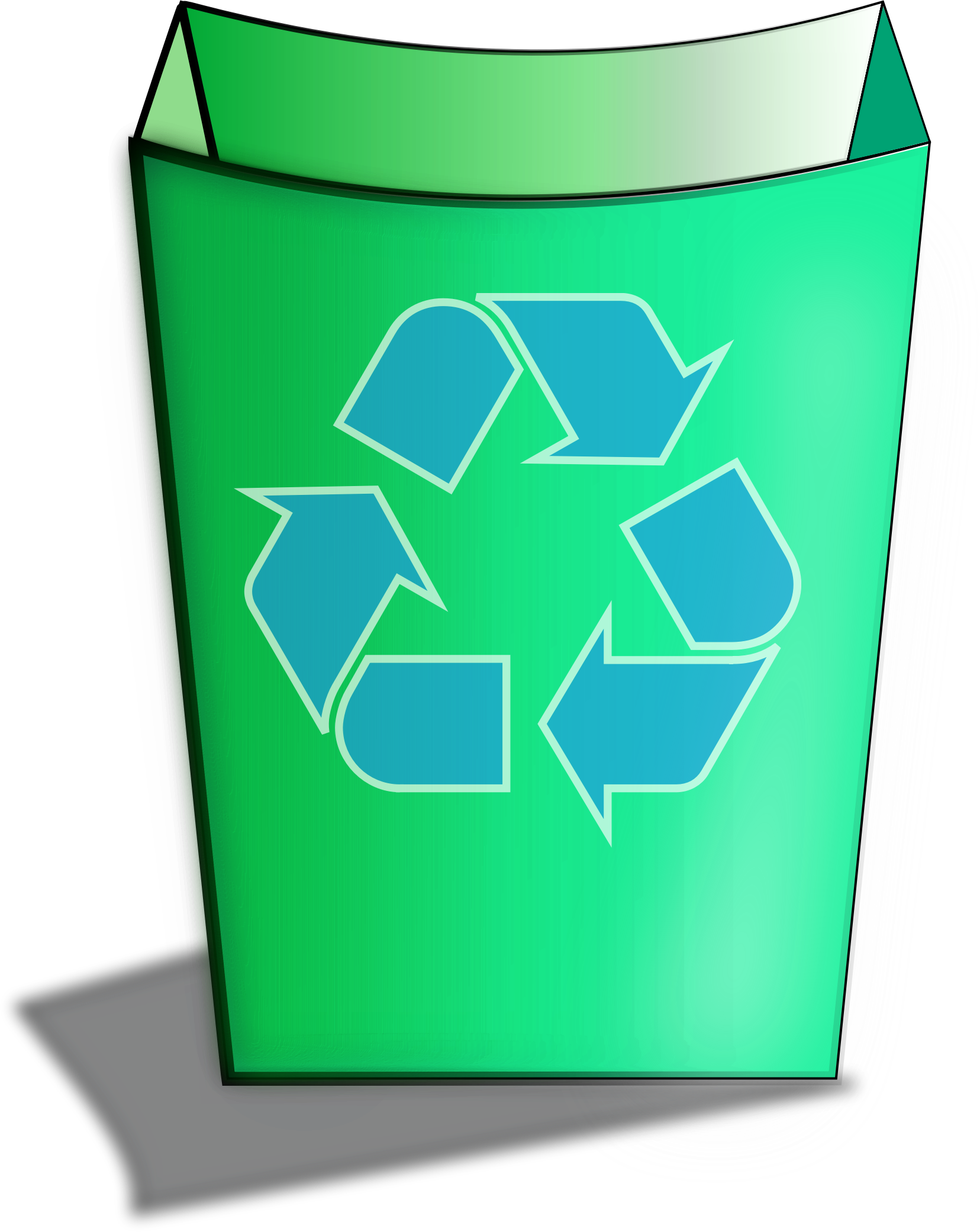 Green Recycle Bin by isaiah658