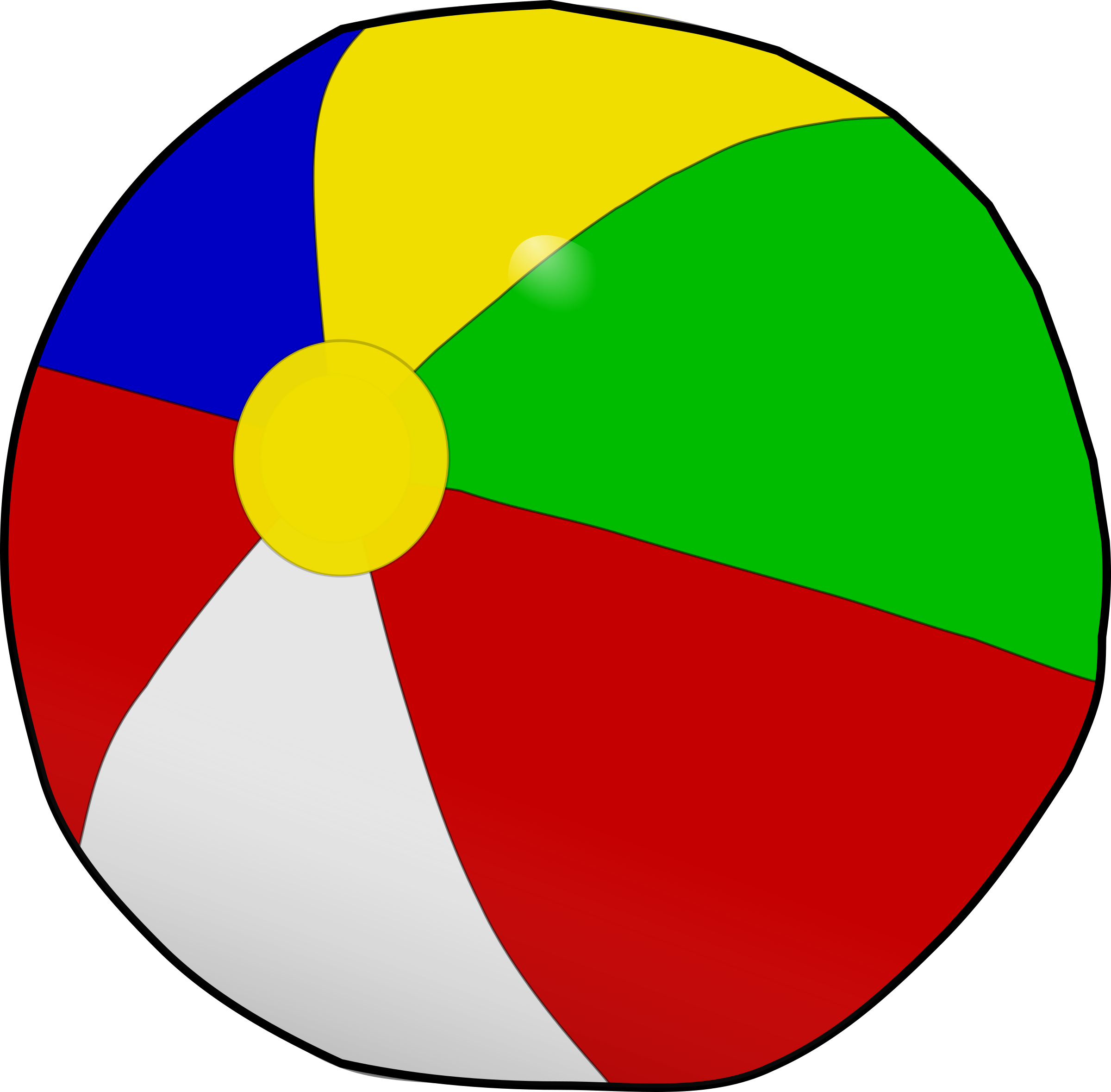 Beach ball by Anonymous