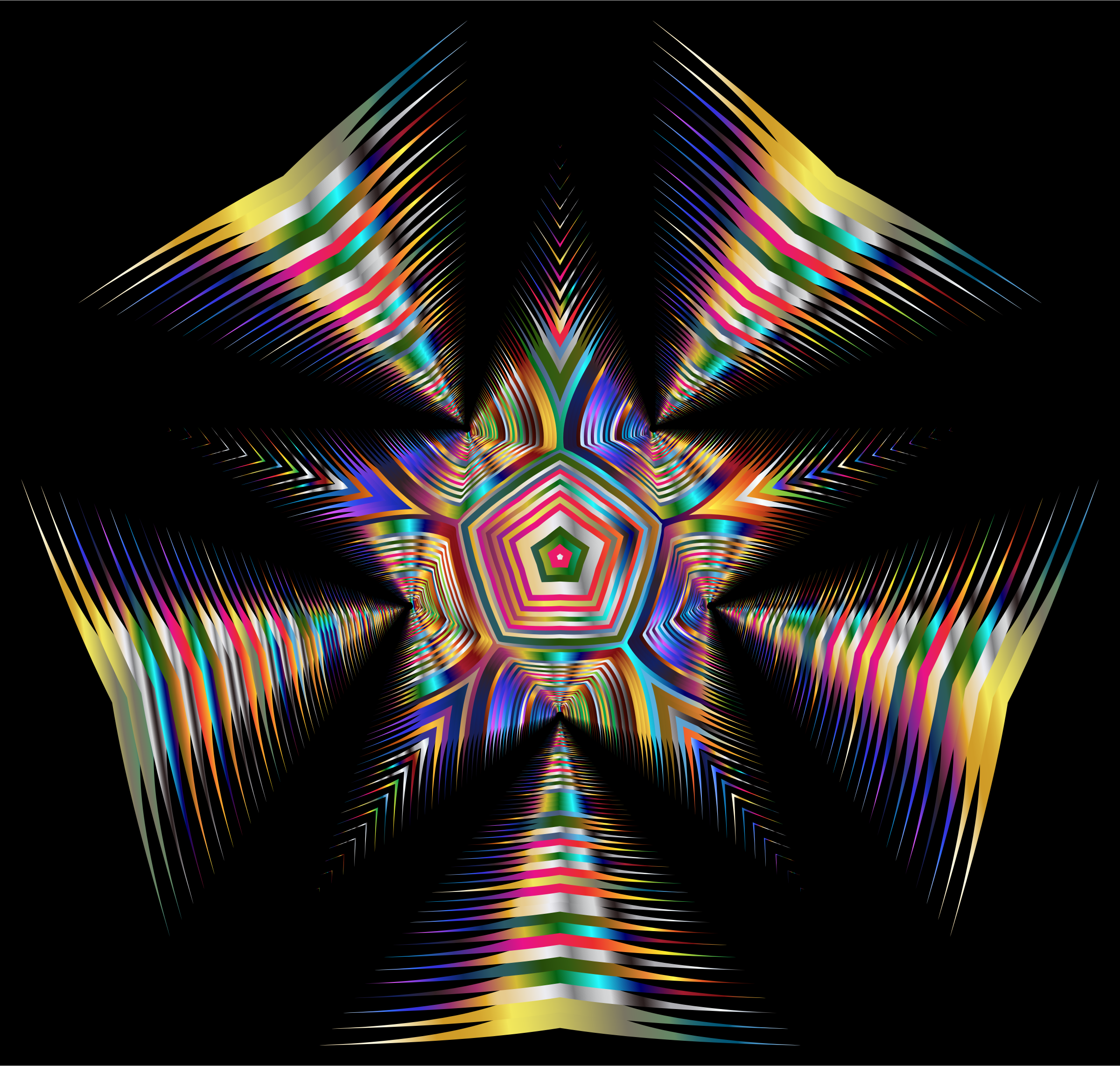 Prismatic Star Line Art 2 by GDJ