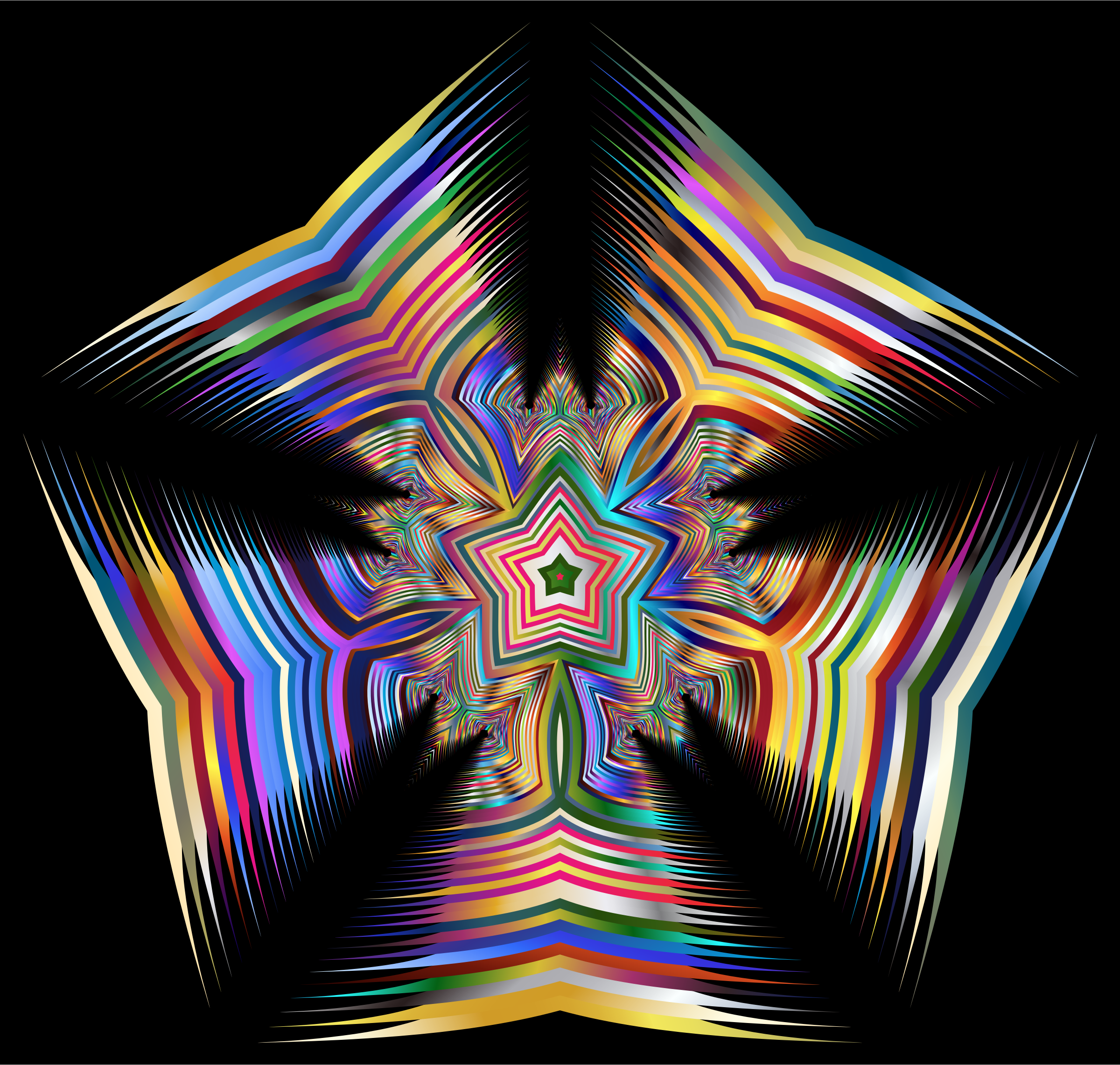 Prismatic Star Line Art 3 by GDJ