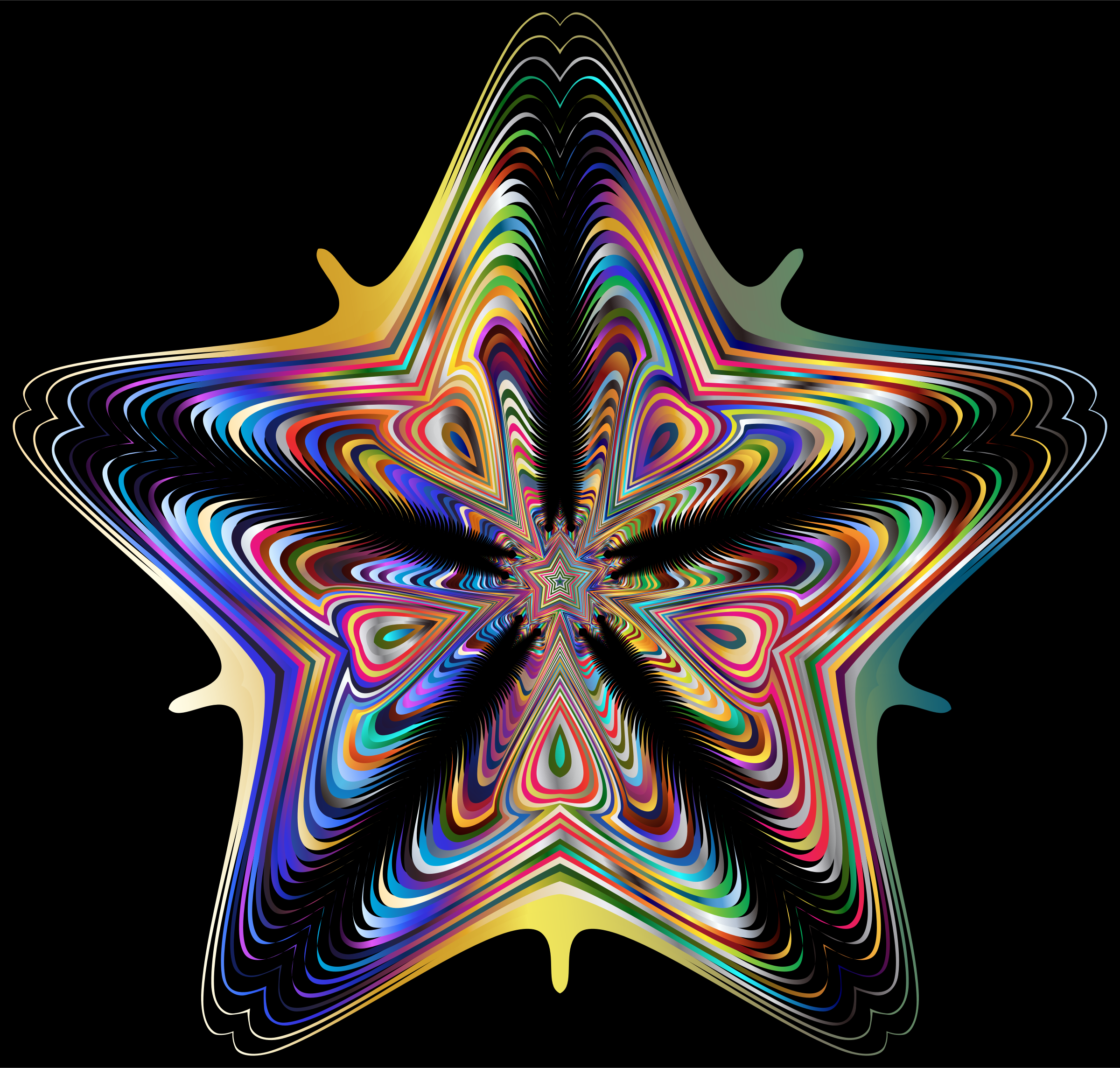 Prismatic Star Line Art 5 by GDJ