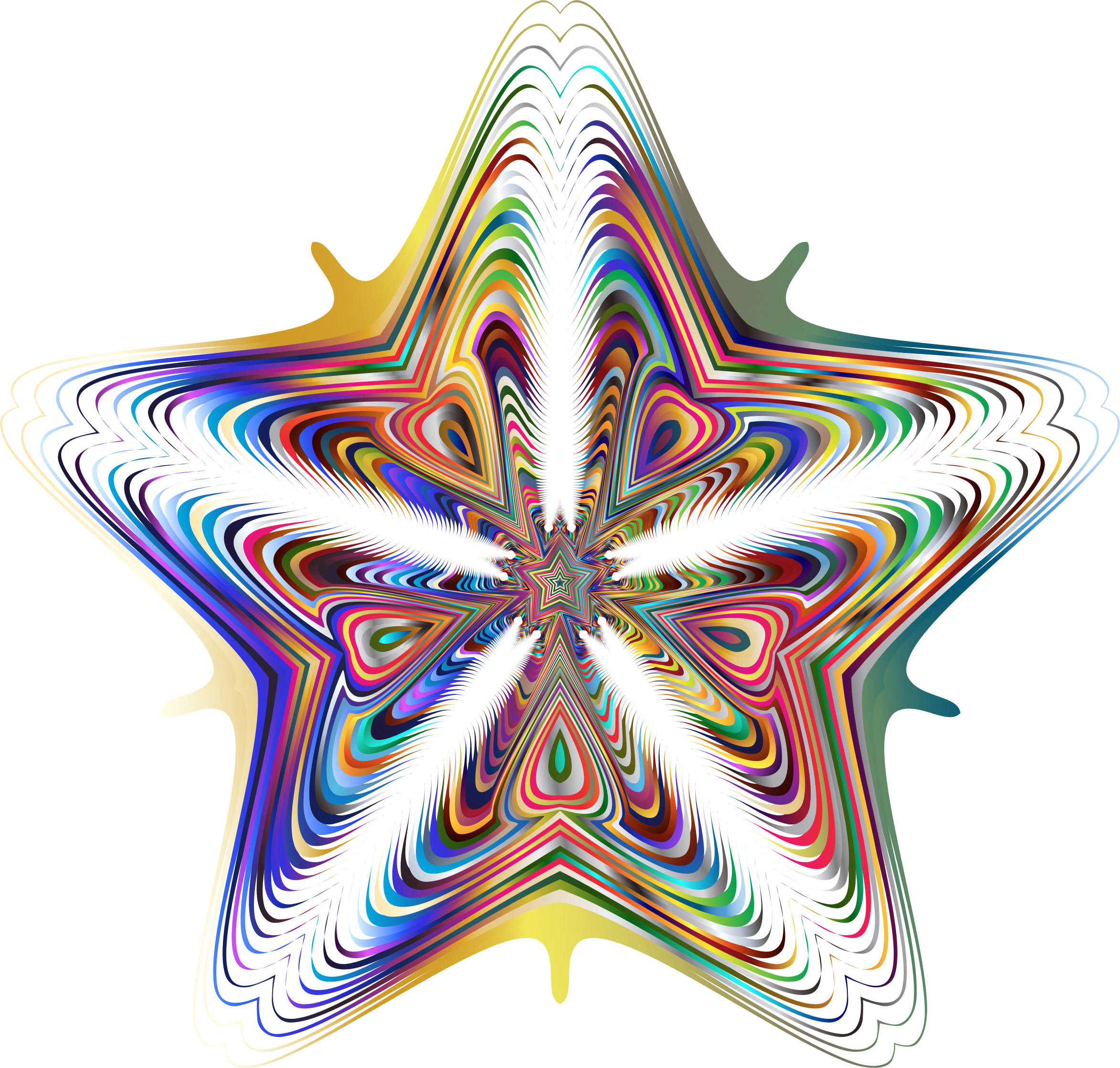 Prismatic Star Line Art 5 No Background by GDJ