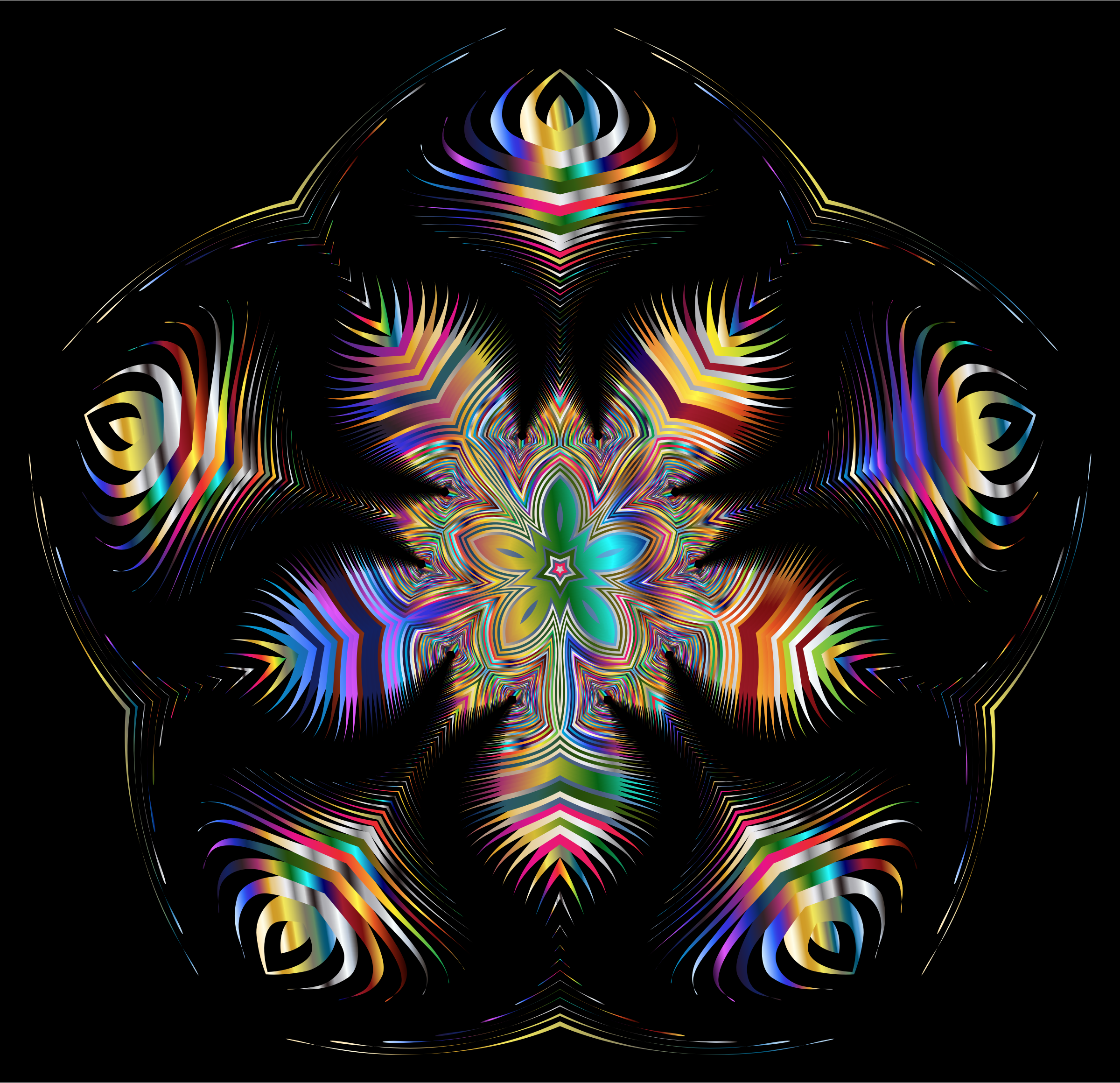 Prismatic Star Line Art 7 by GDJ