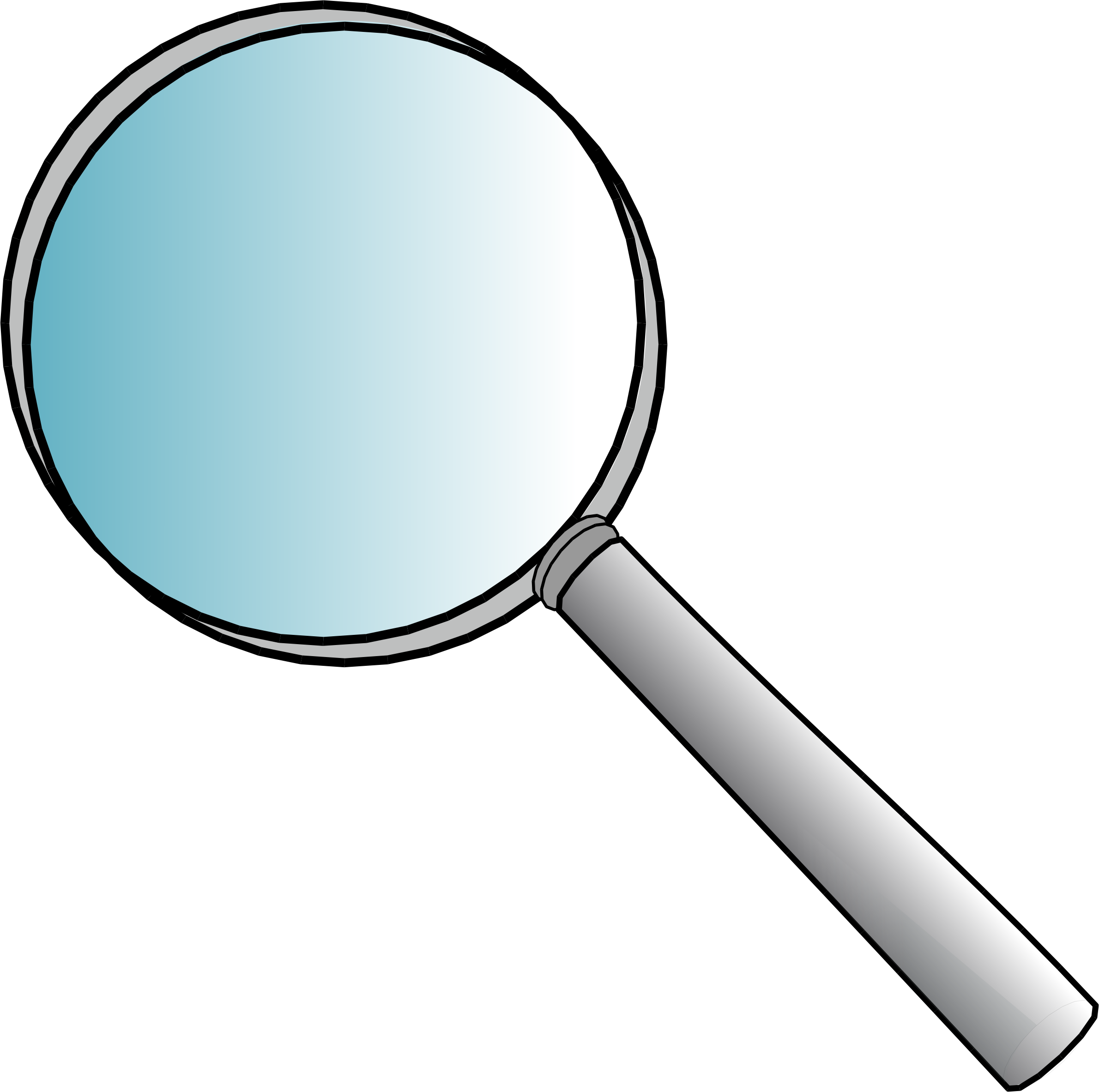 Magnifying glass by Anonymous