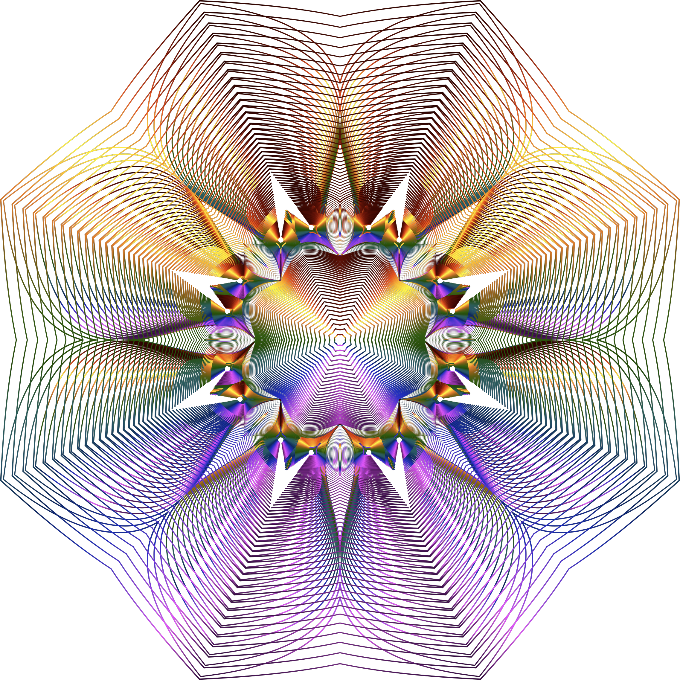Prismatic Floral Line Art No Background by GDJ