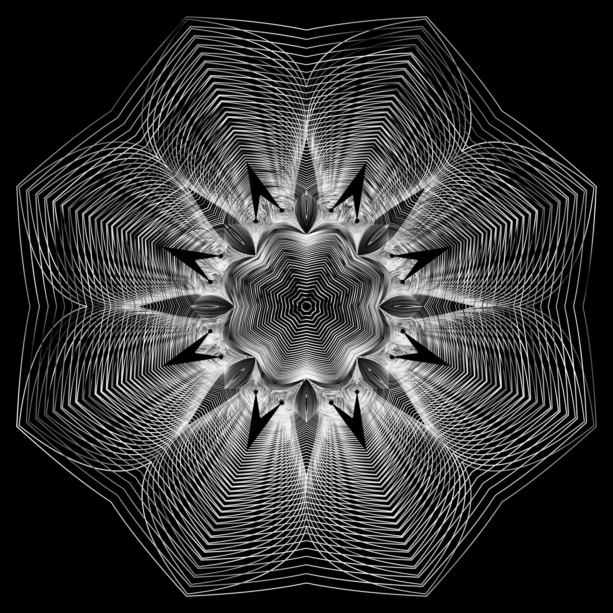 Prismatic Floral Line Art 7 by GDJ