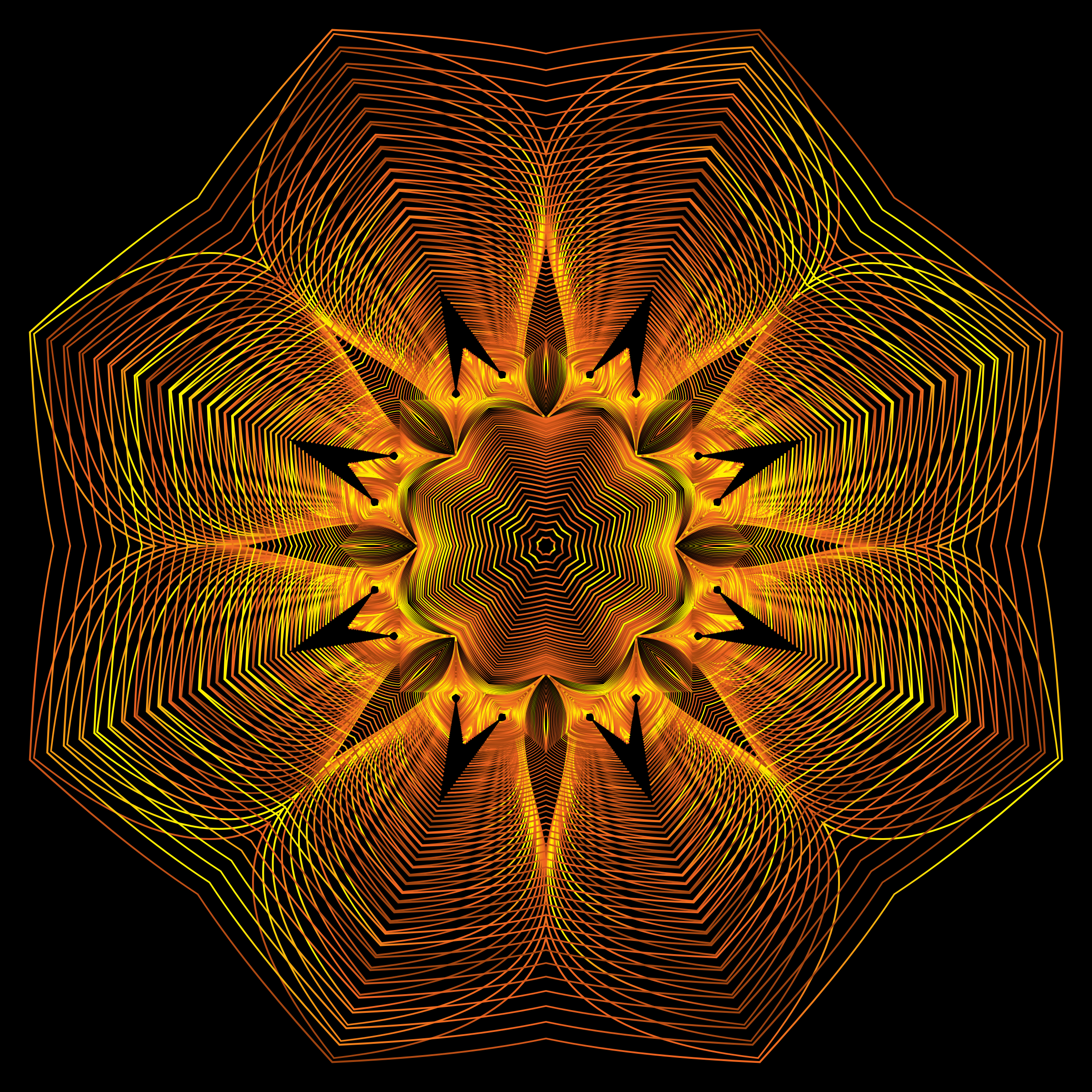 Prismatic Floral Line Art 10 by GDJ